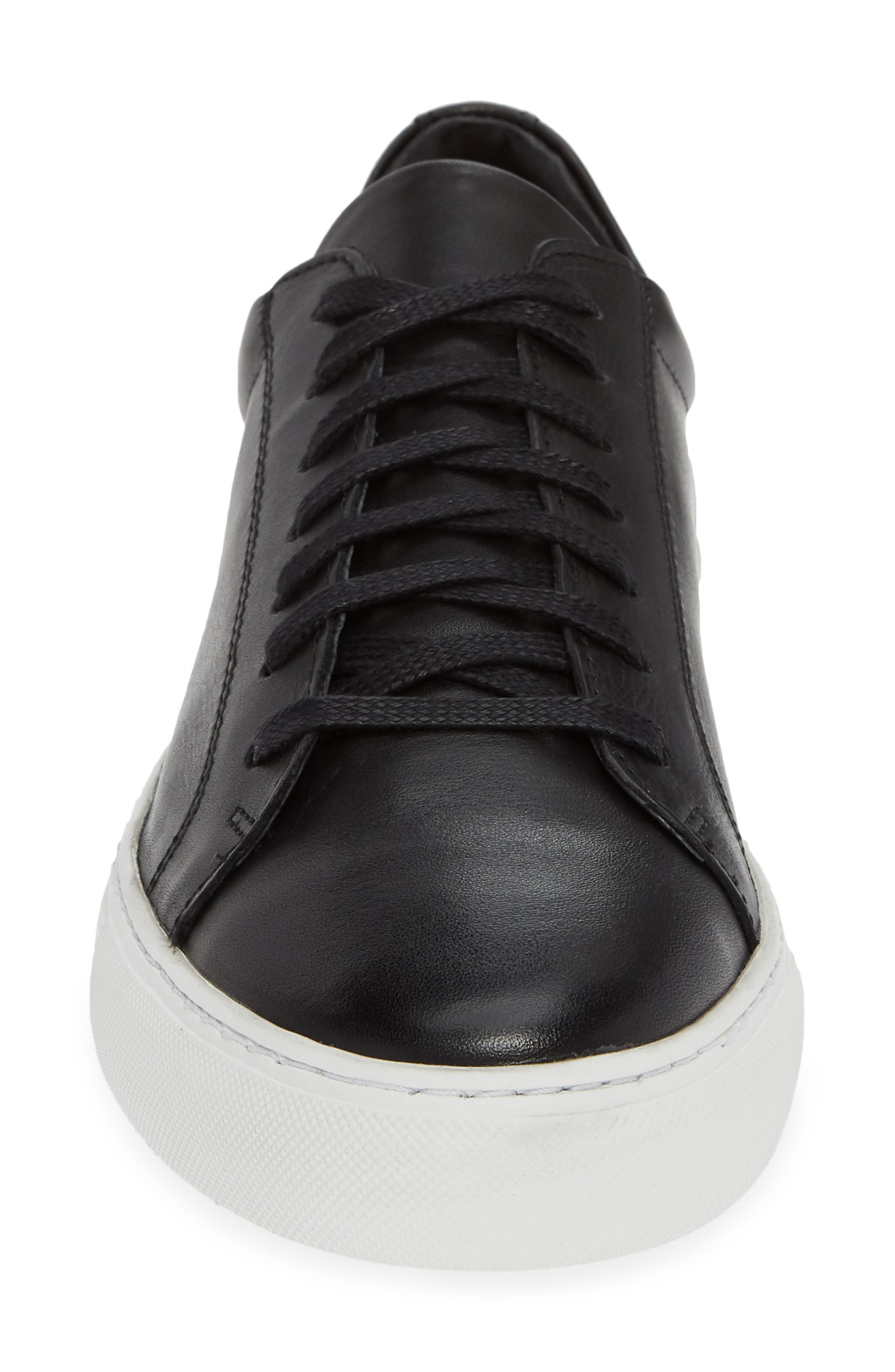 Damian Lace-Up Sneaker,                             Alternate thumbnail 4, color,                             001