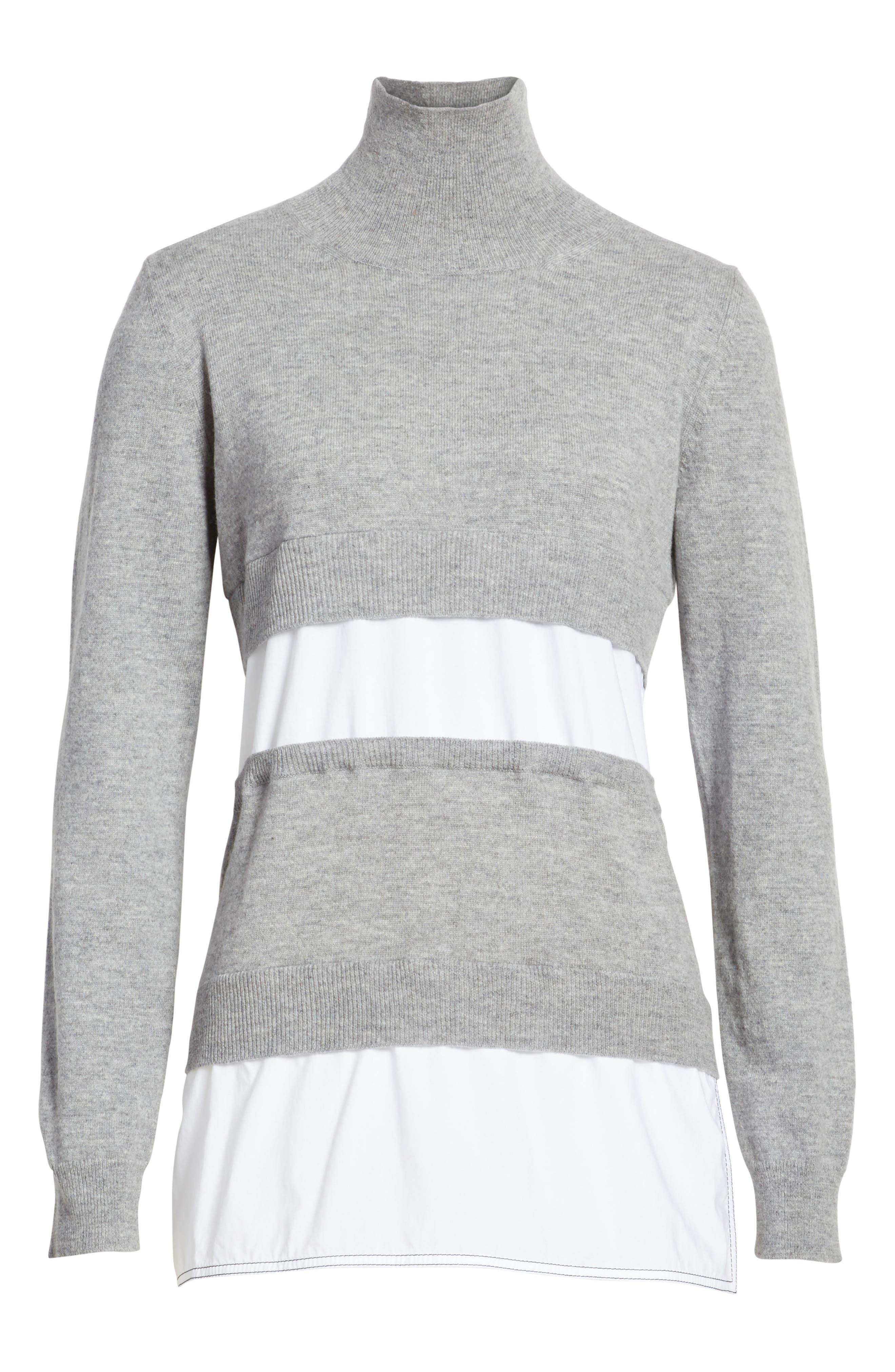 Turtleneck Sweater,                             Alternate thumbnail 6, color,                             020