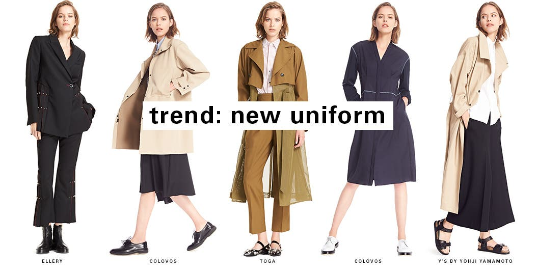 SPACE trend: new uniform. One of our favorite trends takes military cool and mixes it with boarding school prep and a little pretty flair.