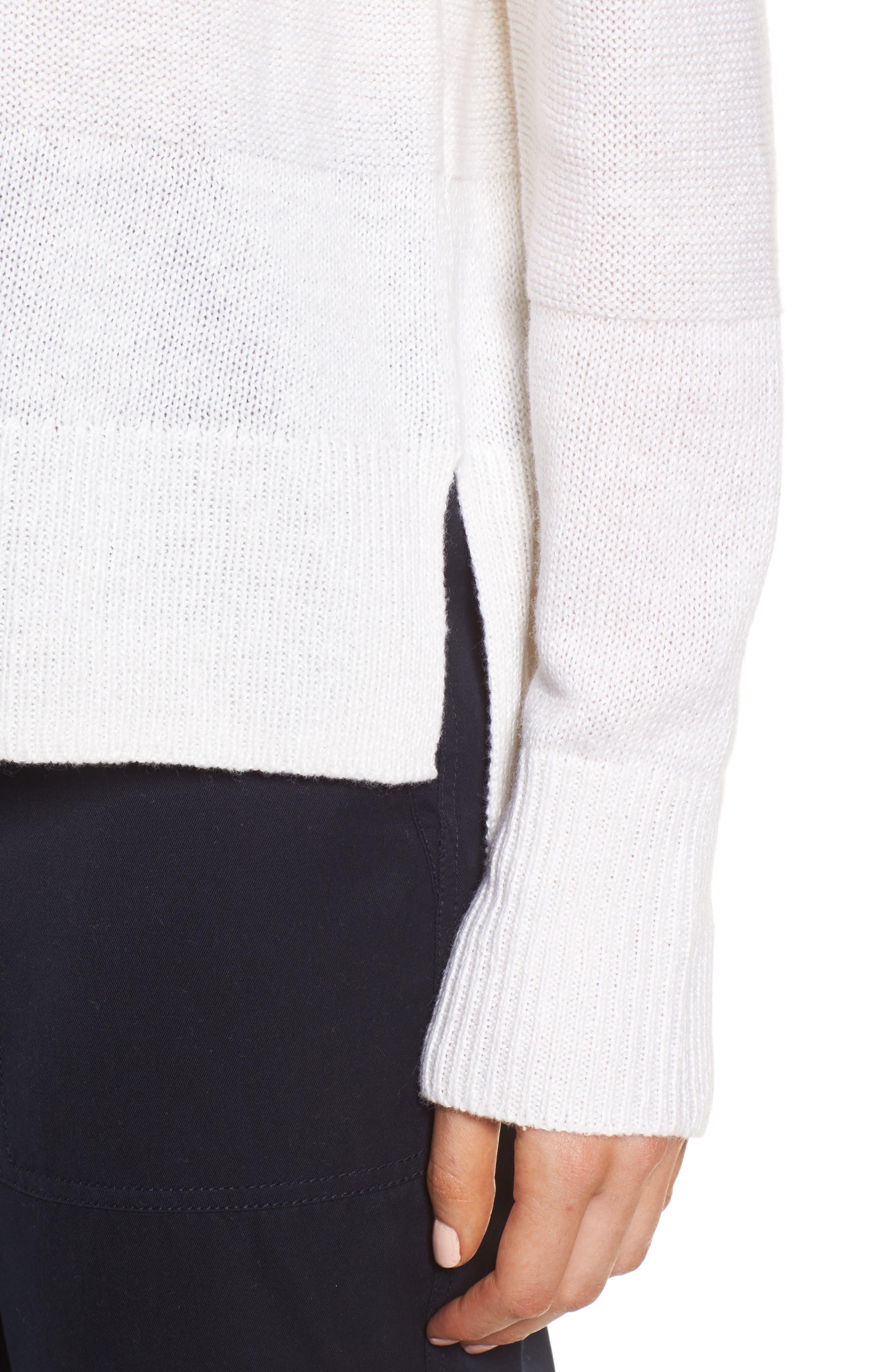 Linen & Cashmere Sweater,                             Alternate thumbnail 8, color,