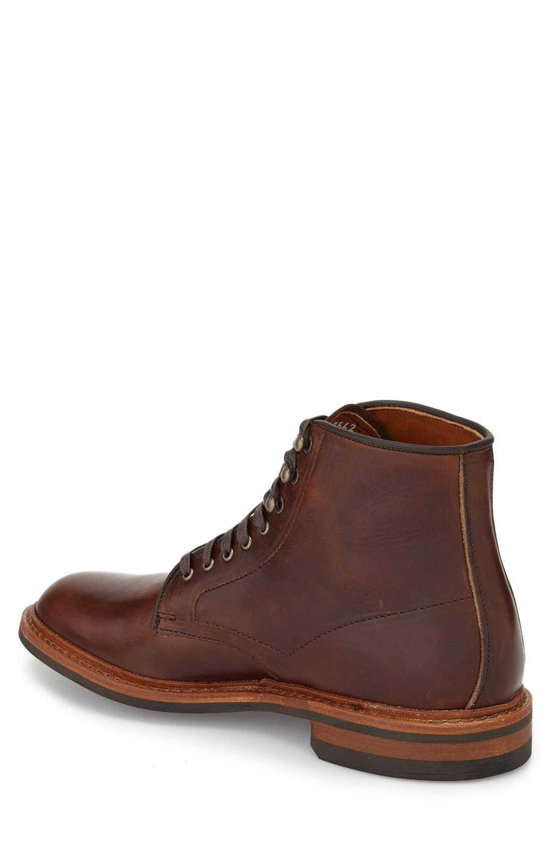 'Higgins Mill' Plain Toe Boot,                             Alternate thumbnail 2, color,                             BROWN LEATHER