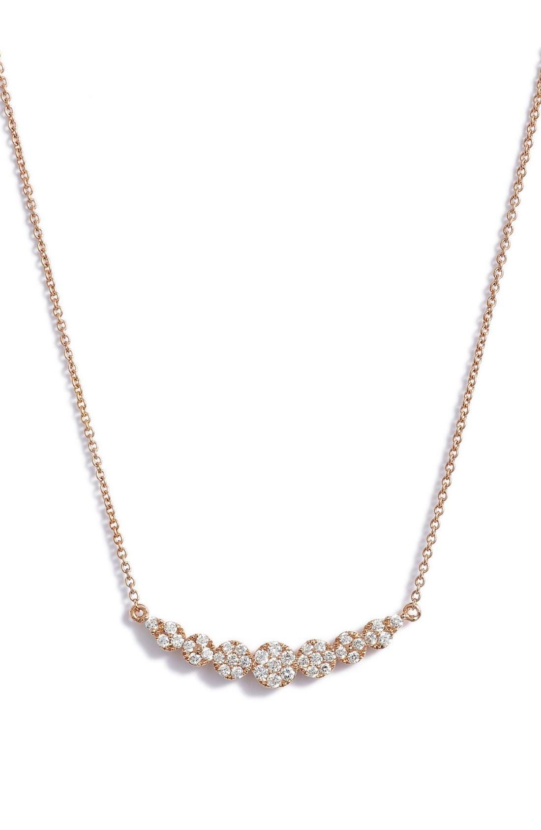 'Liora' Diamond Pendant Necklace,                             Main thumbnail 1, color,                             ROSE GOLD