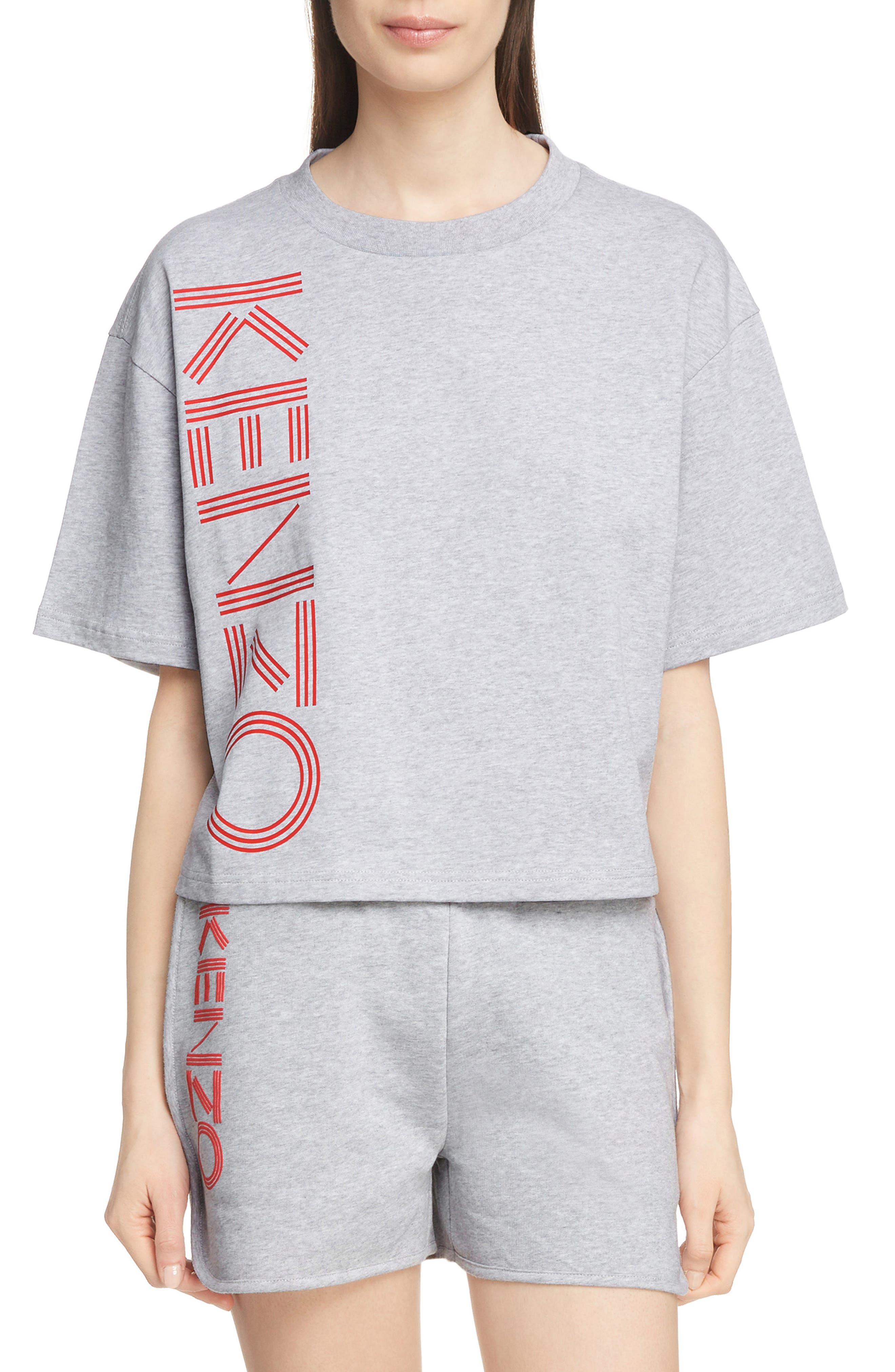 Sport Boxy Tee,                             Main thumbnail 1, color,                             PALE GREY
