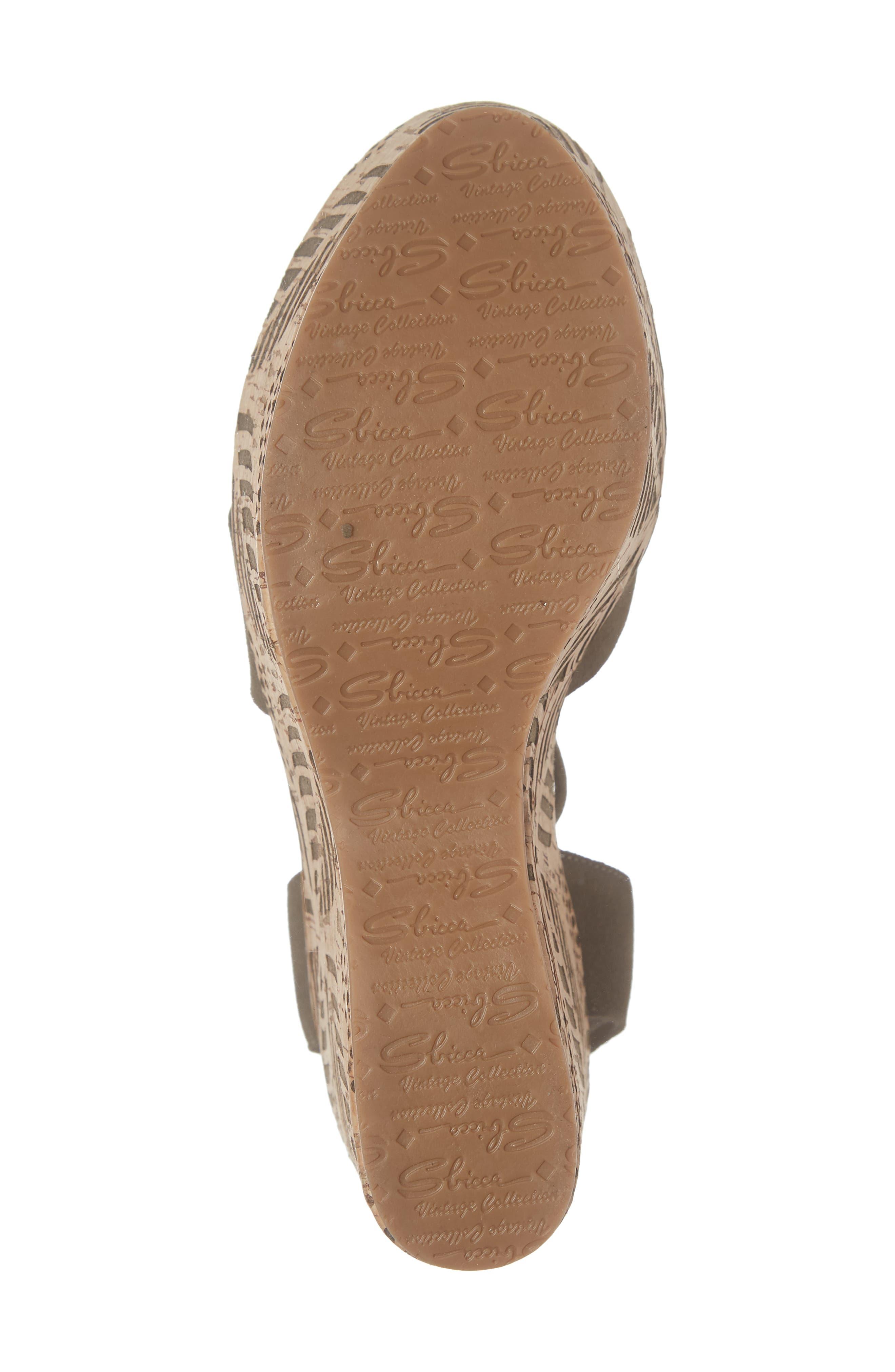 Islandia Platform Sandal,                             Alternate thumbnail 6, color,                             KHAKI LEATHER