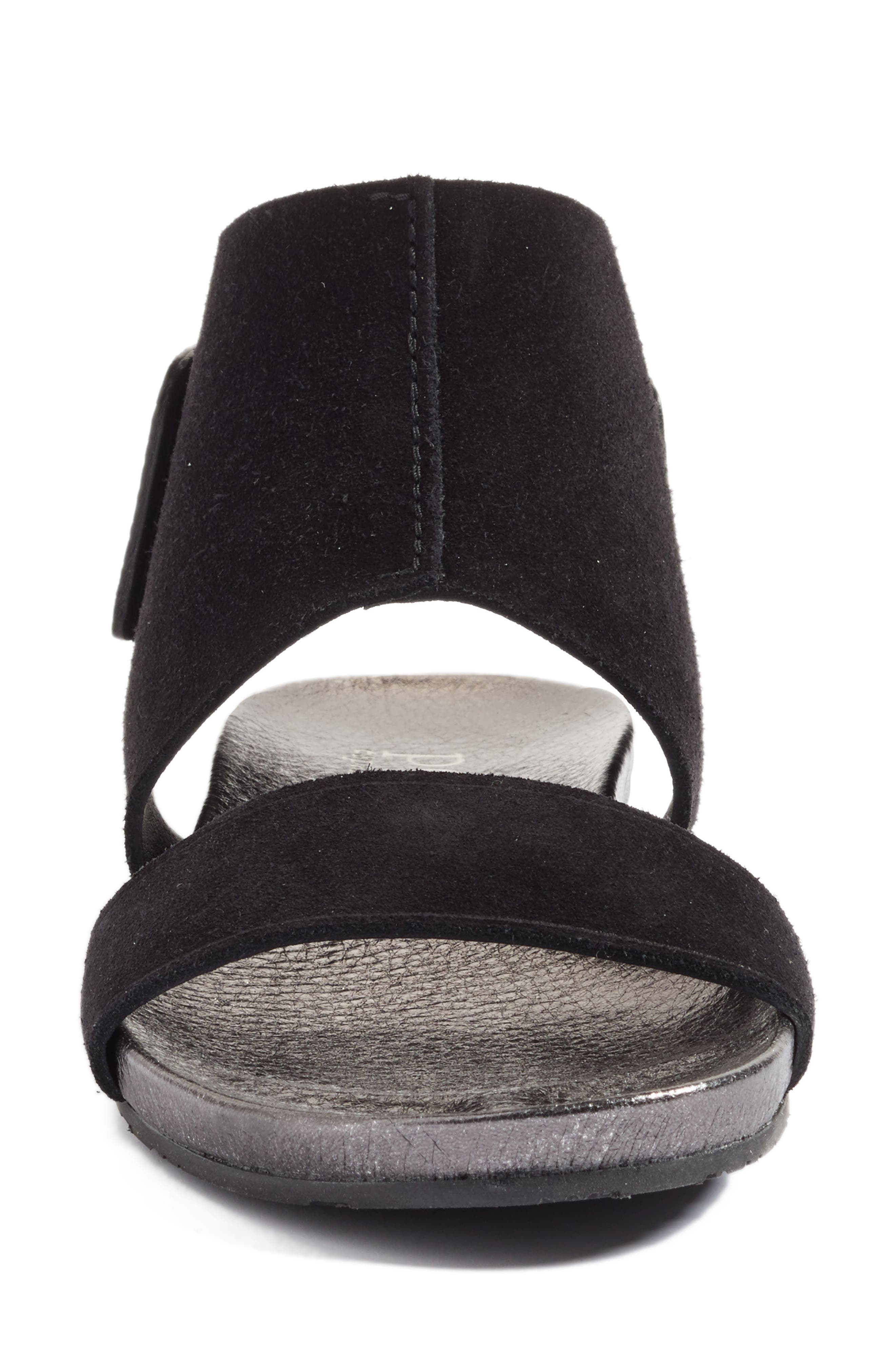 Ankle Cuff Sandal,                             Alternate thumbnail 4, color,                             001