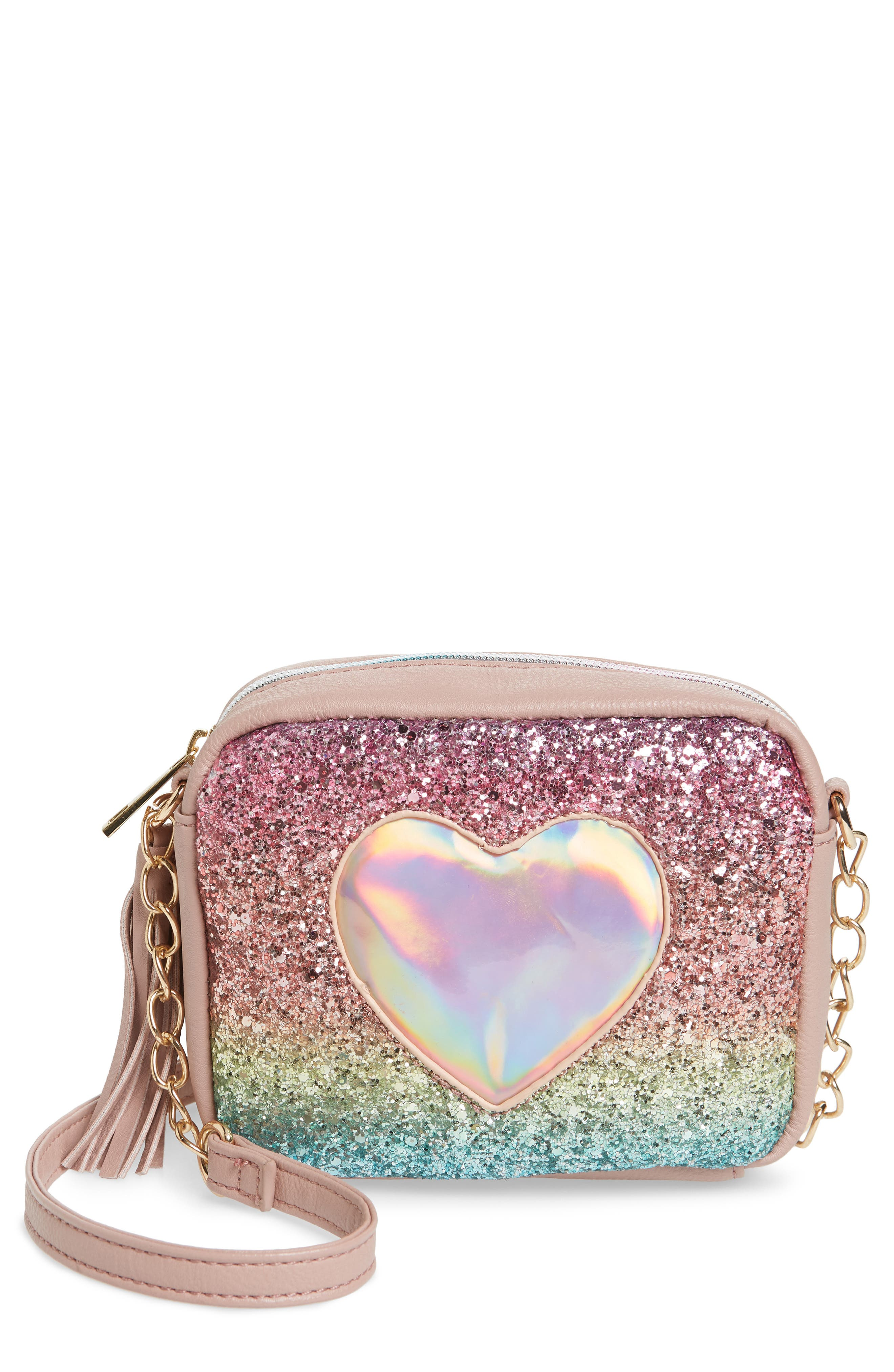 Glitter Crossbody Bag,                         Main,                         color, 650