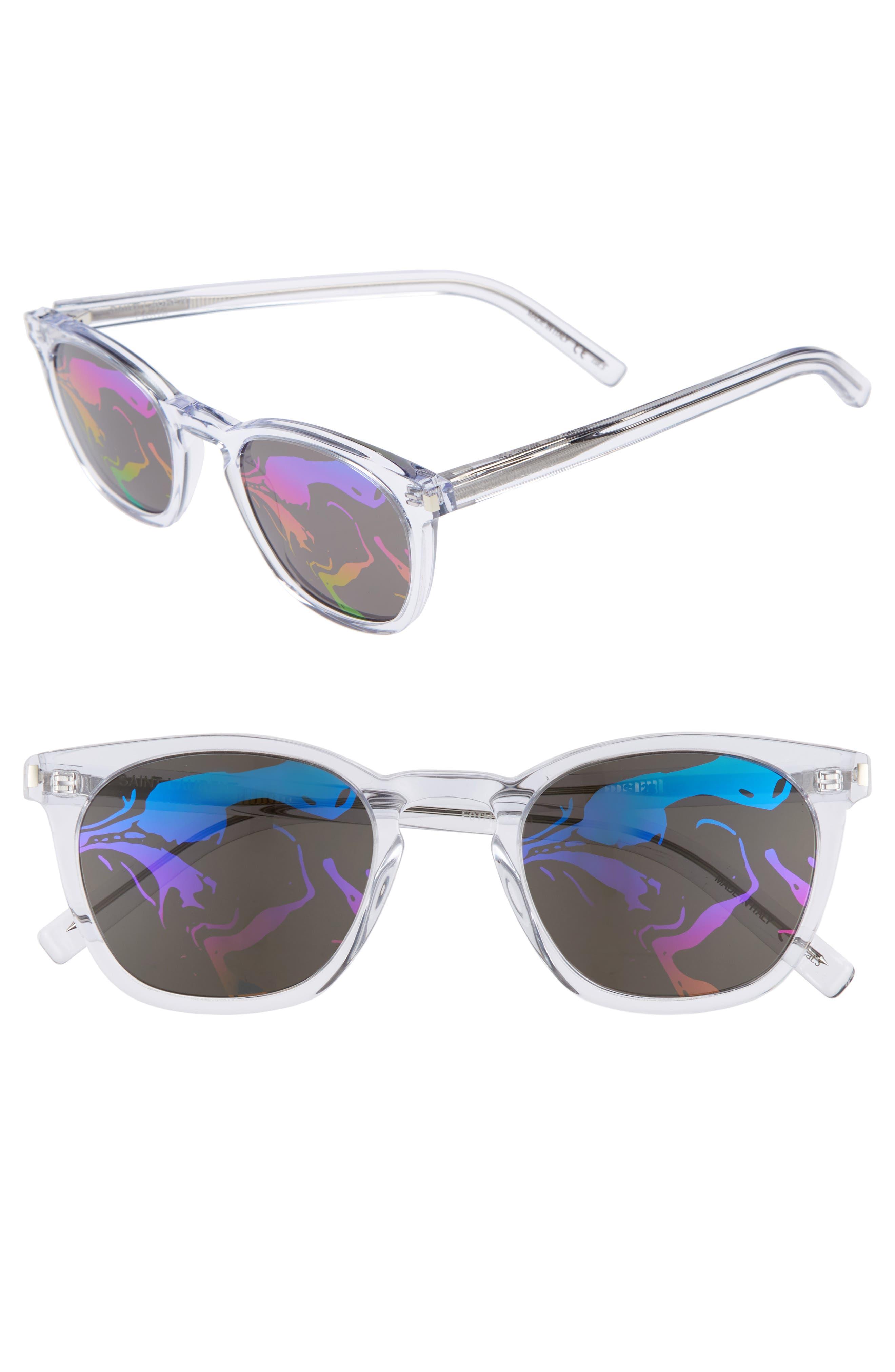 SL28 49mm Sunglasses,                         Main,                         color, CRYSTAL