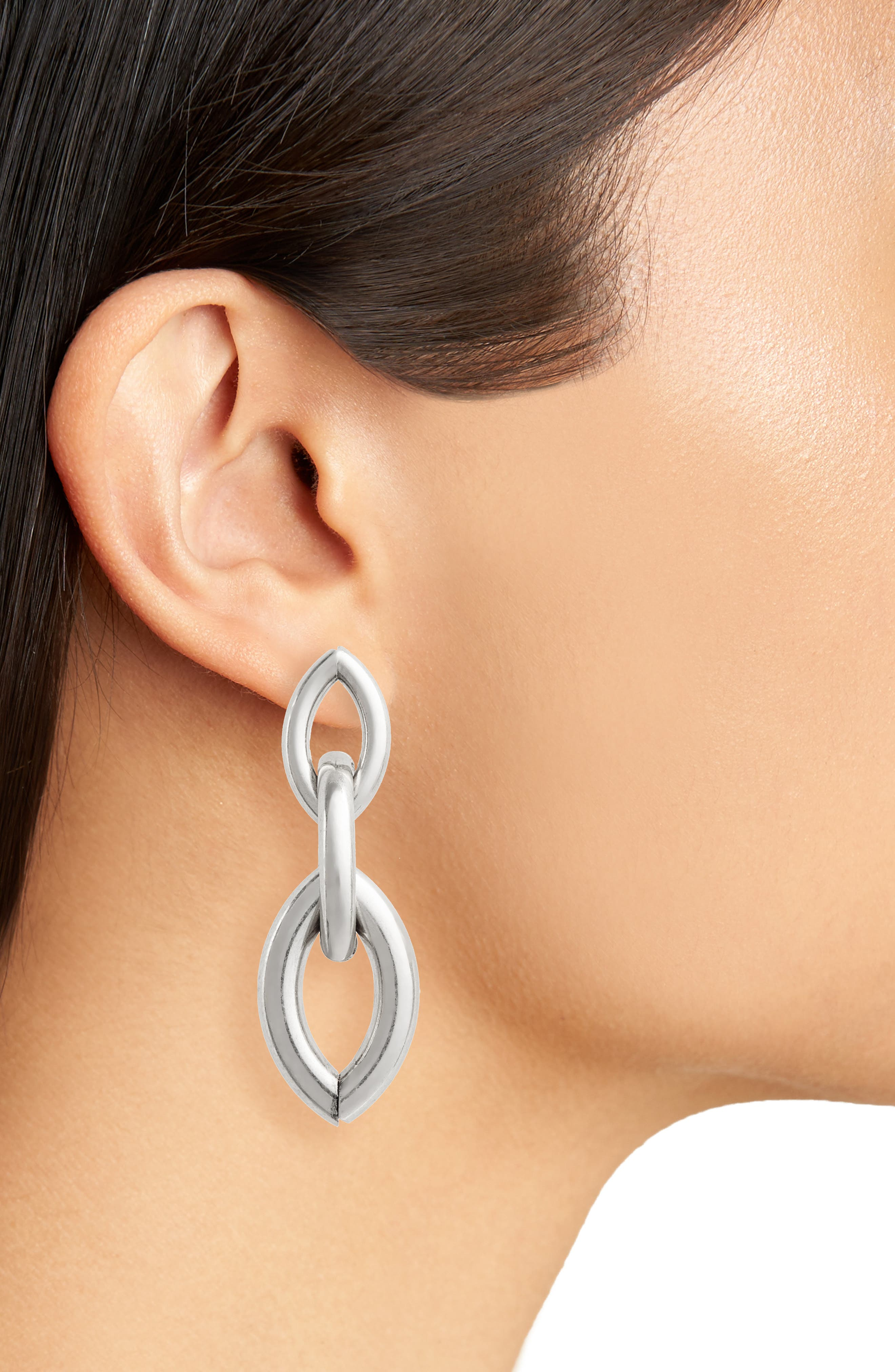 Sloane Drop Earrings,                             Alternate thumbnail 2, color,                             SILVER