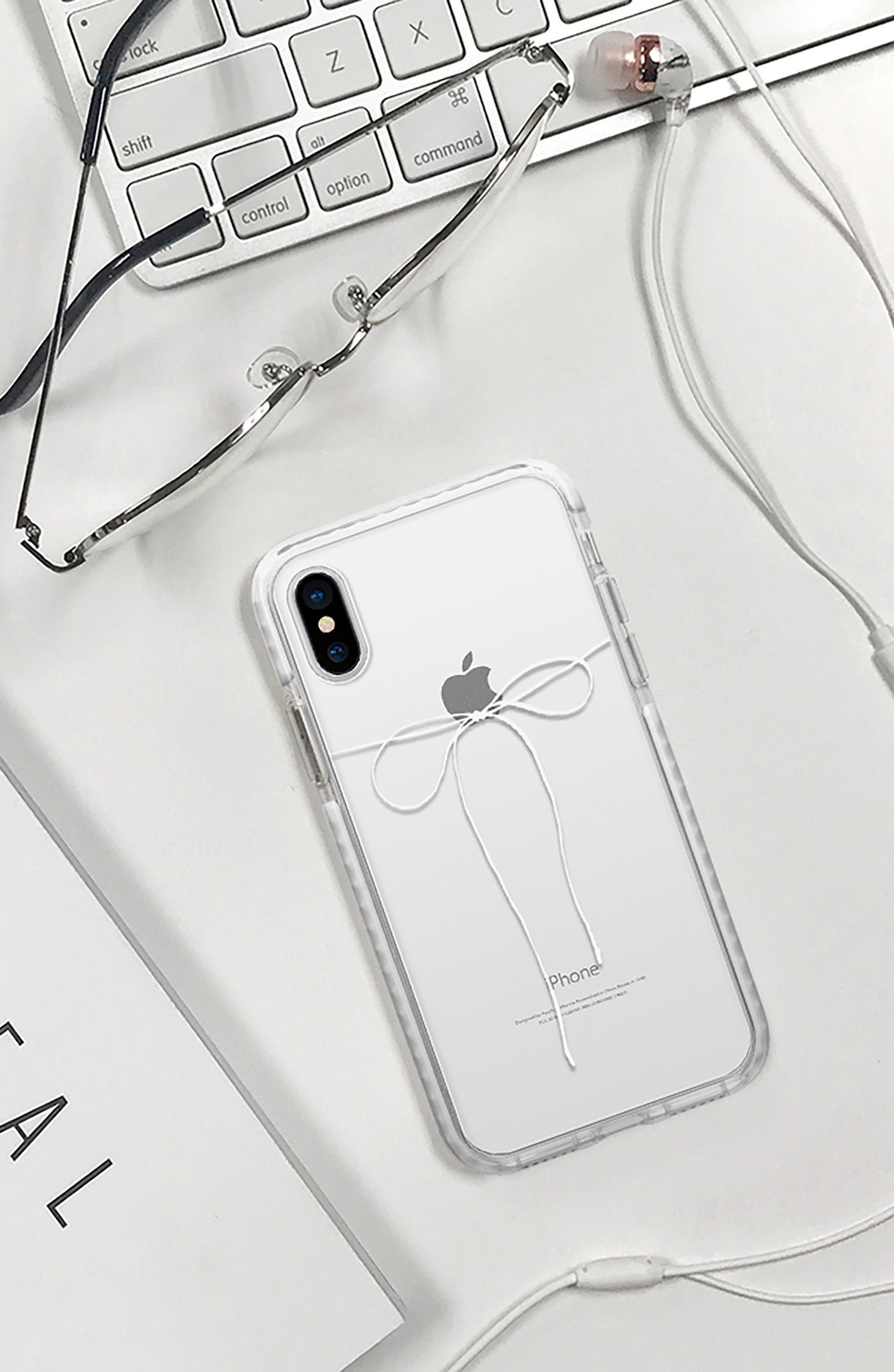 Take a Bow Clear iPhone X/Xs Case,                             Alternate thumbnail 6, color,                             100