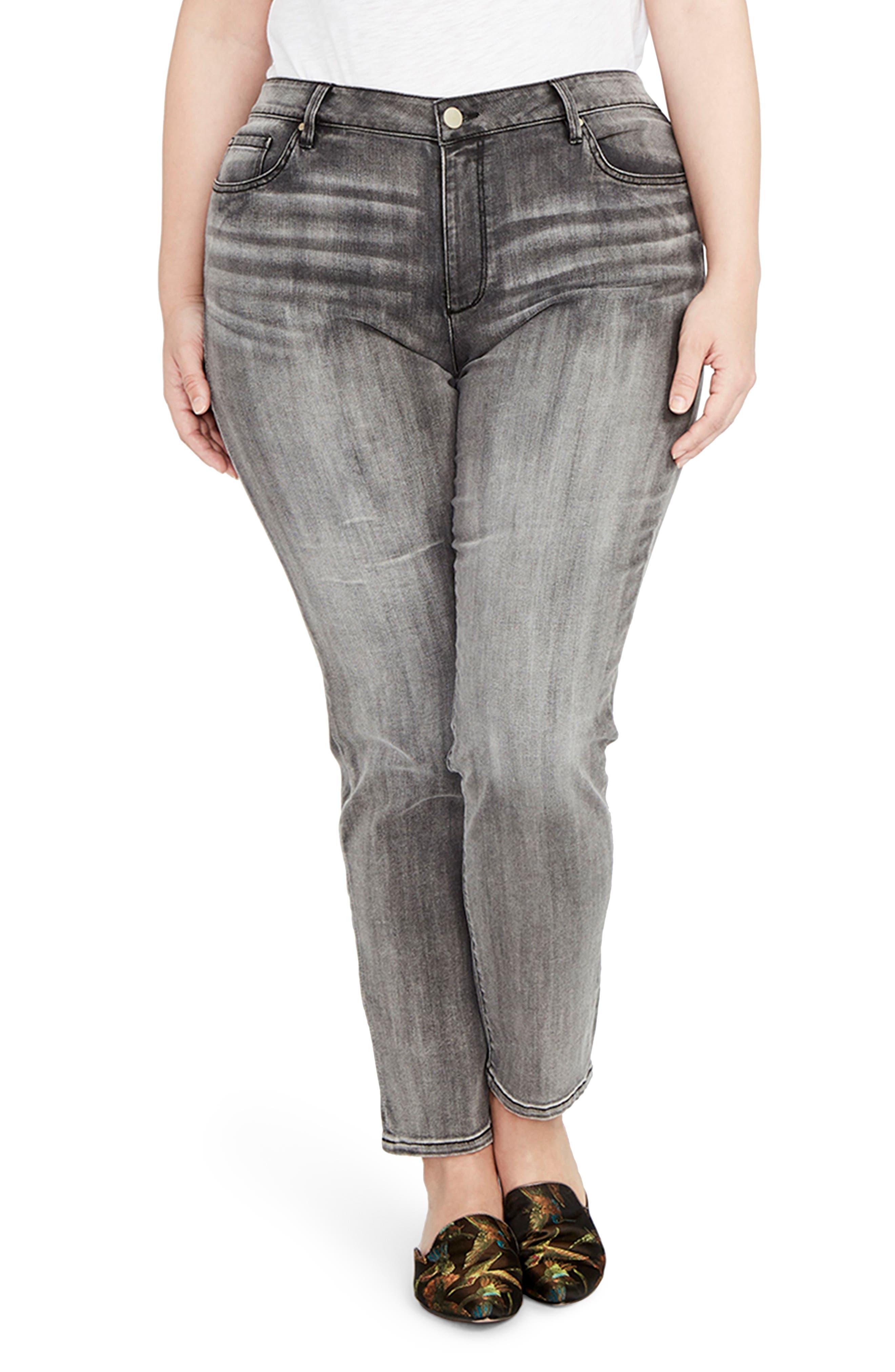 Curvy Icon Skinny Jeans,                             Main thumbnail 1, color,                             GRAY