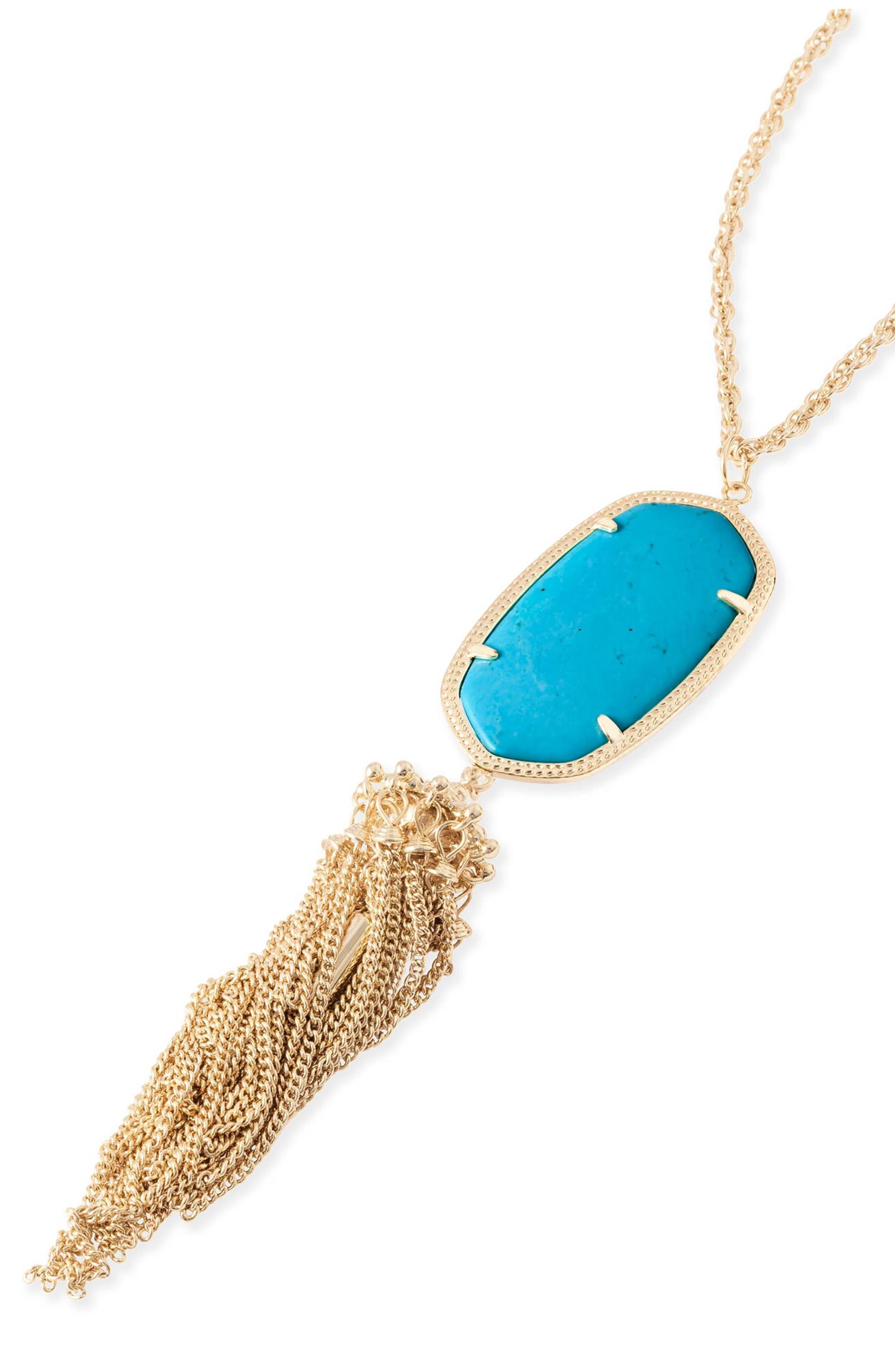 Rayne Stone Tassel Pendant Necklace,                             Alternate thumbnail 203, color,