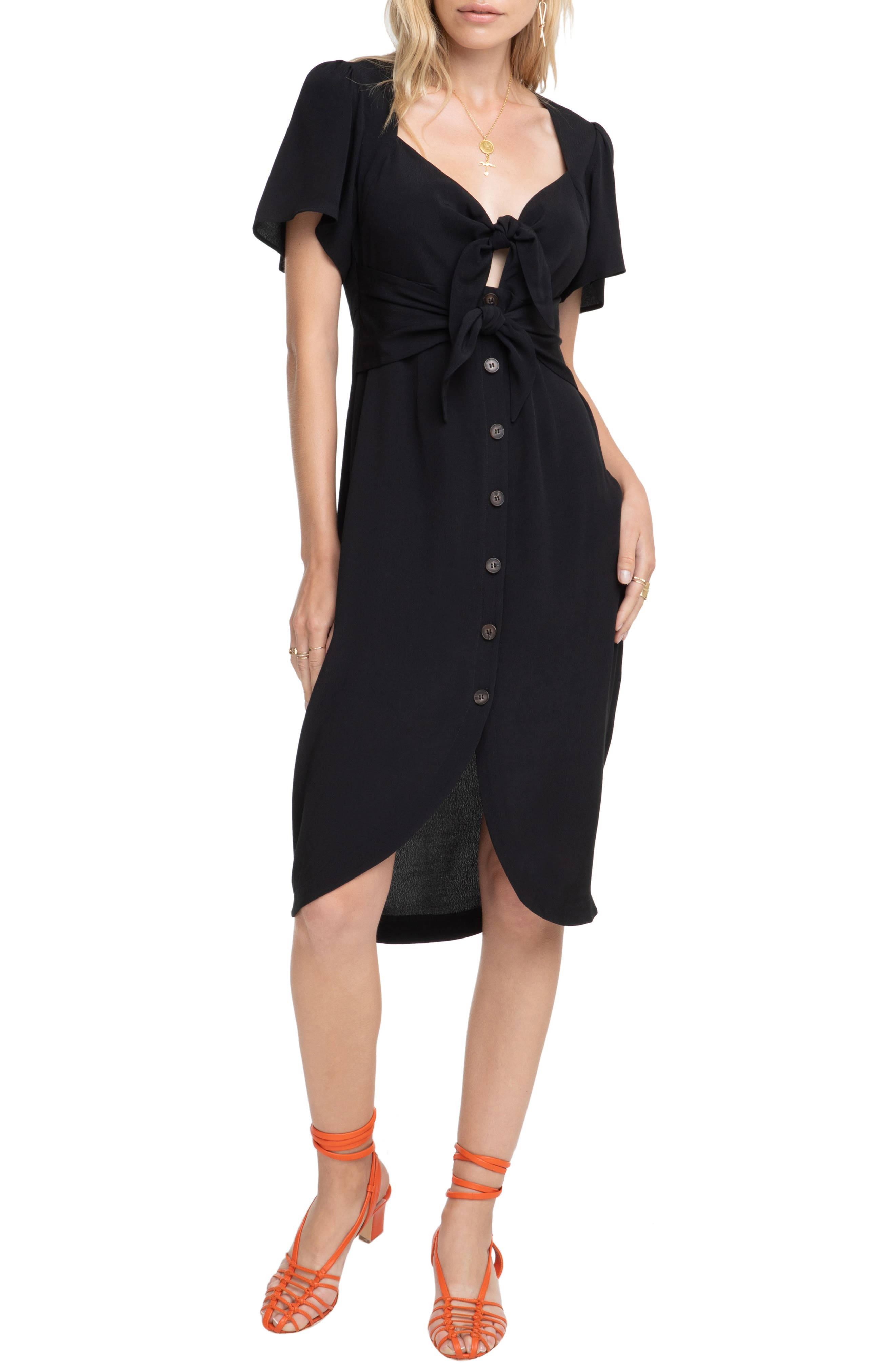 Astr The Label Cole Dress, Black
