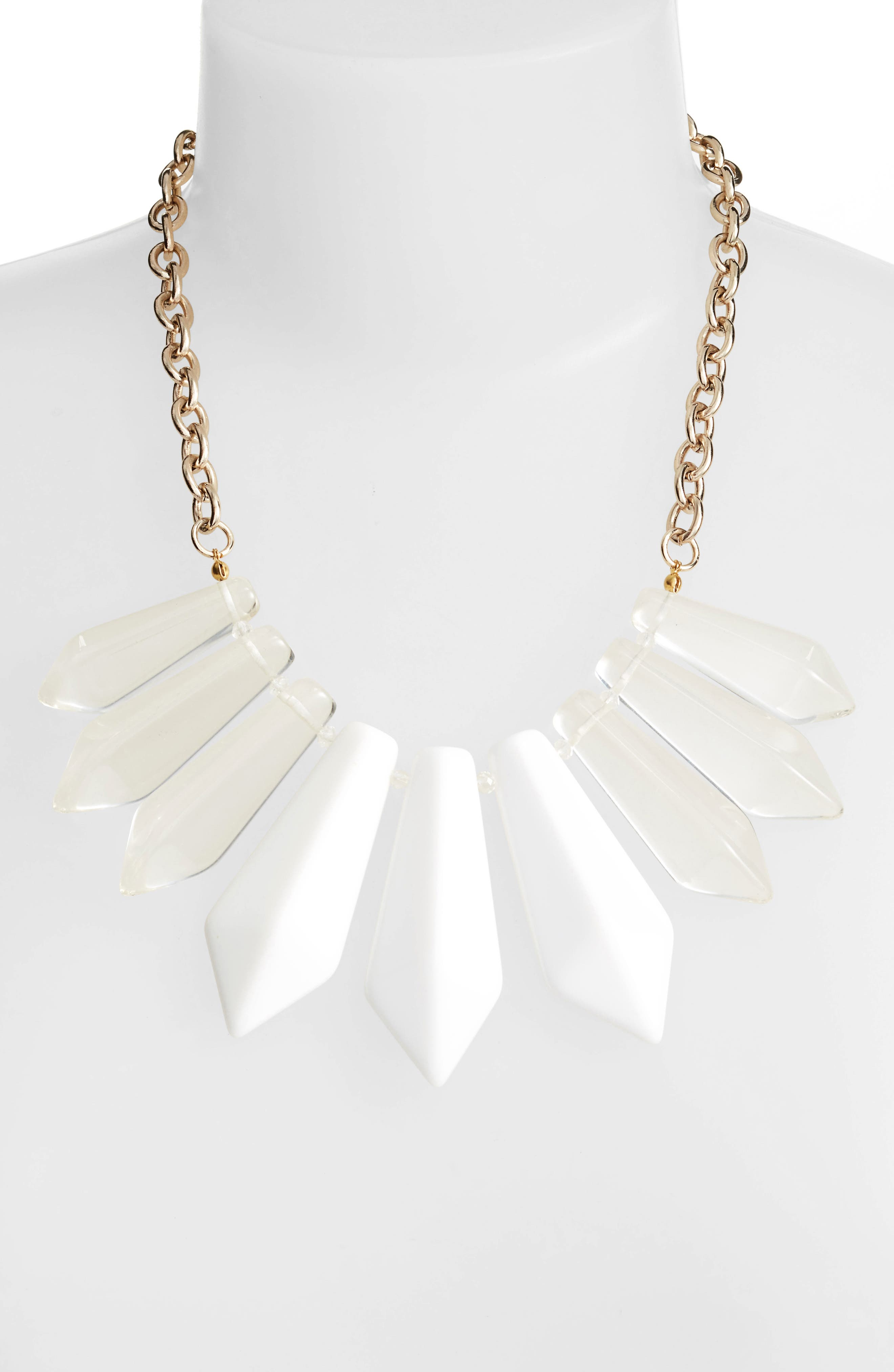Spiked Resin Statement Necklace,                             Alternate thumbnail 2, color,                             100
