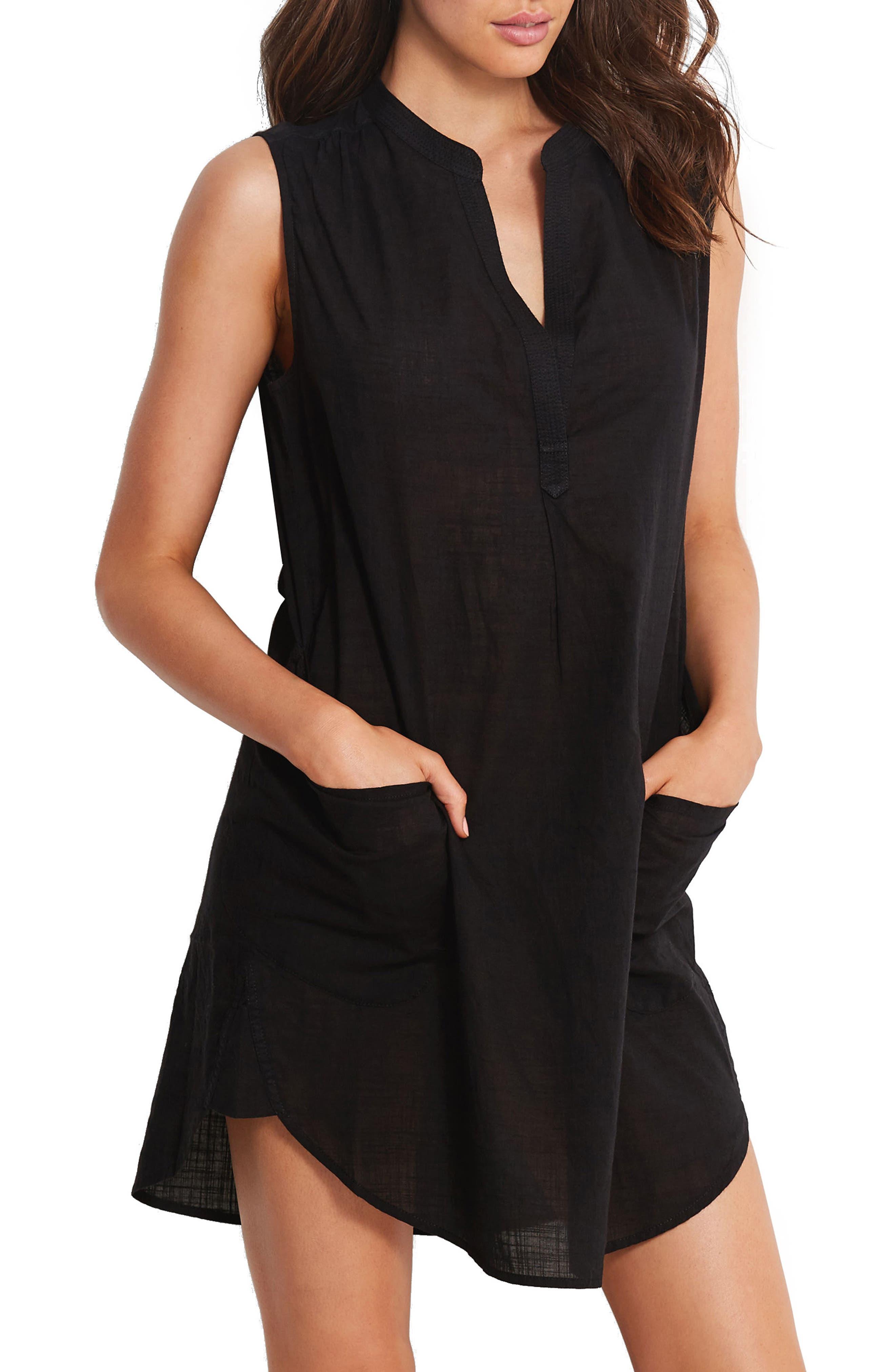Palm Beach Cover-Up Dress,                         Main,                         color, 001