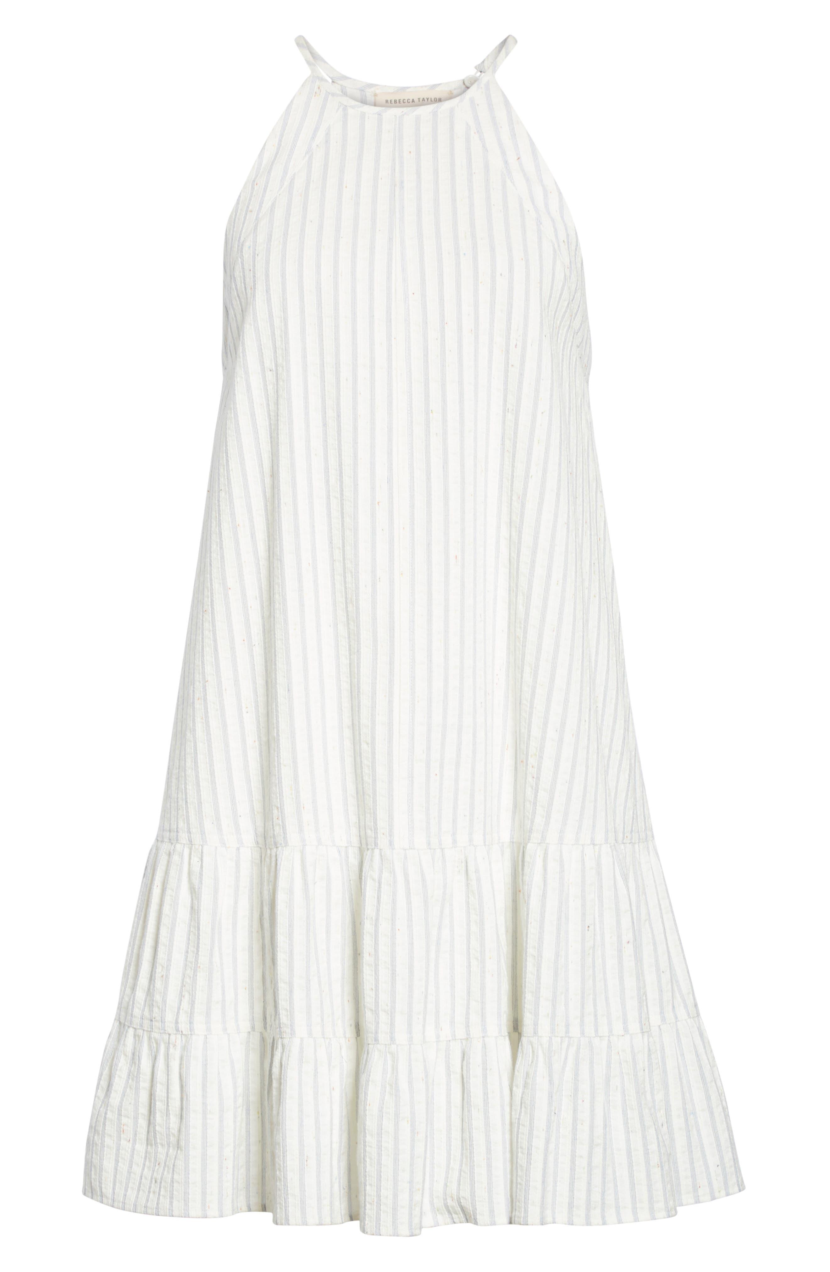 Sleeveless Stripe Tank Dress,                             Alternate thumbnail 6, color,                             421