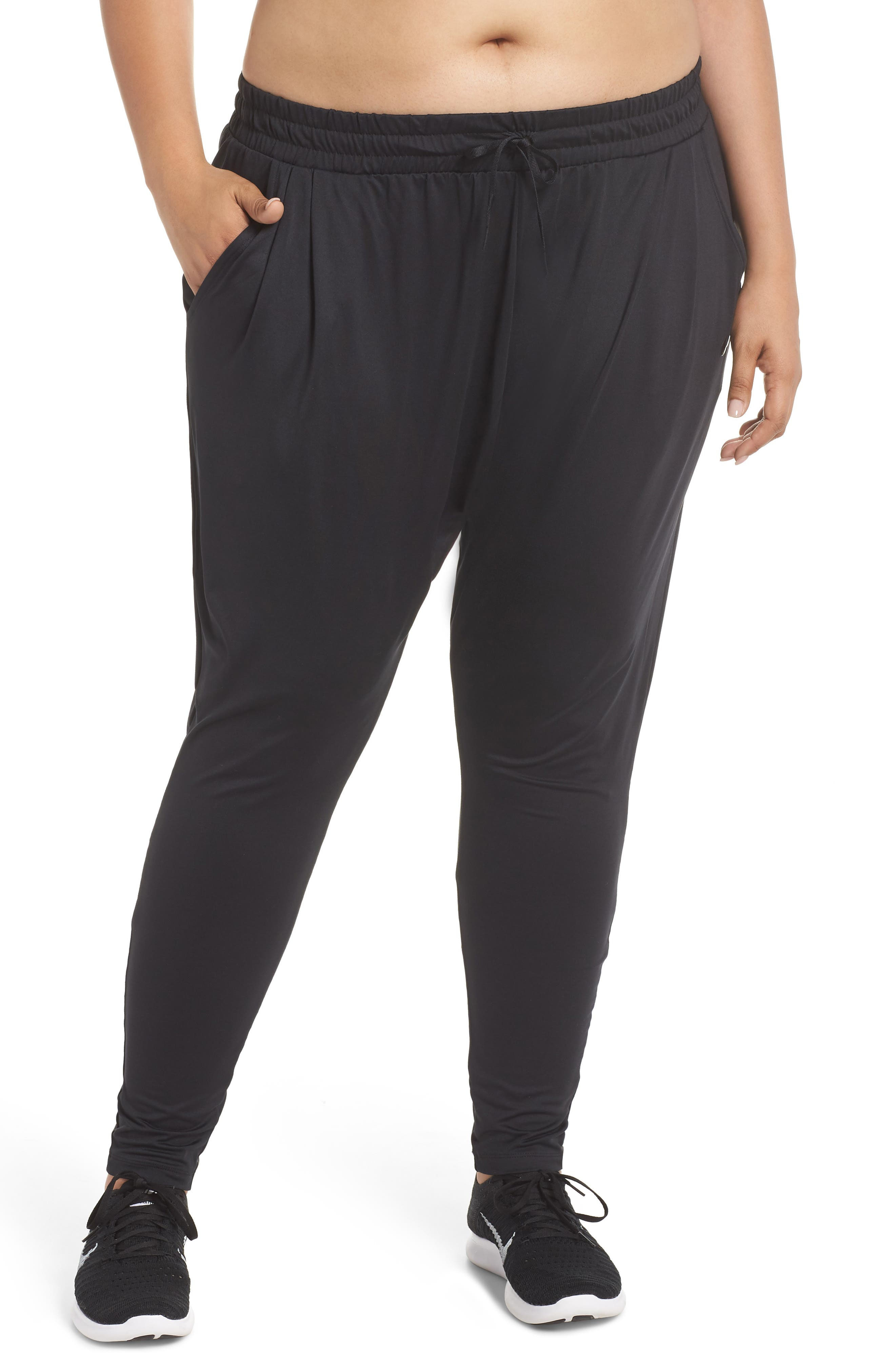 Dry Lux Flow Training Pants,                         Main,                         color, BLACK/ CLEAR