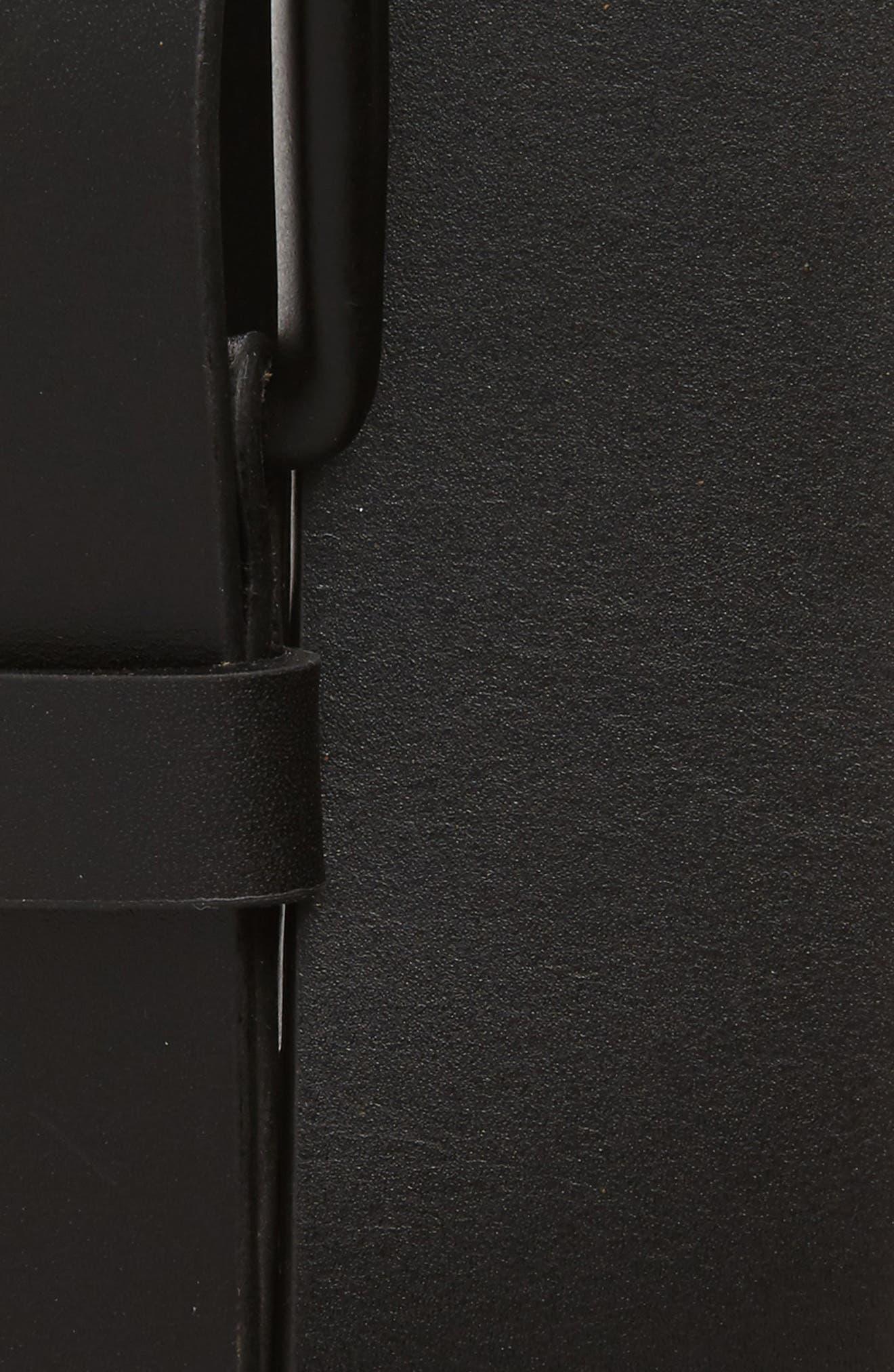 Garrett Leather Belt,                             Alternate thumbnail 2, color,                             BLACK