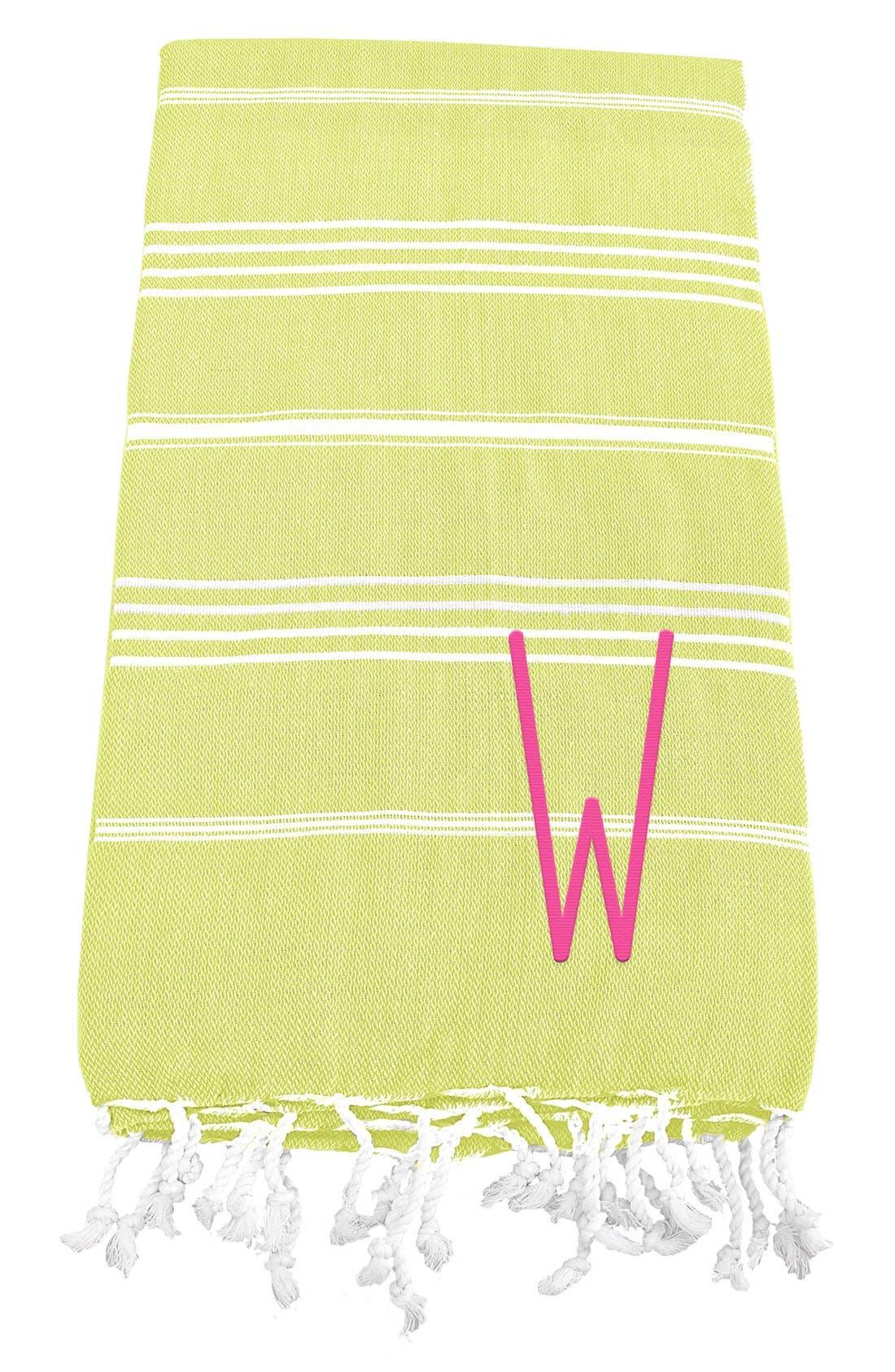Monogram Turkish Cotton Towel,                             Main thumbnail 52, color,