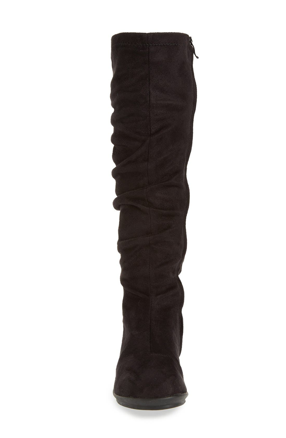 BUSSOLA,                             'Creta' Water Resistant Slouchy Knee-High Boot,                             Alternate thumbnail 2, color,                             001