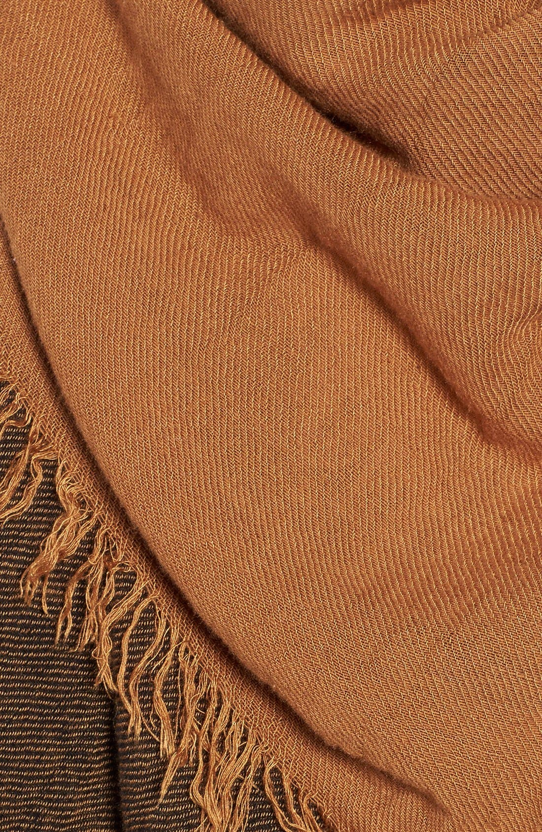 Check Woven Square Scarf,                             Alternate thumbnail 3, color,                             001
