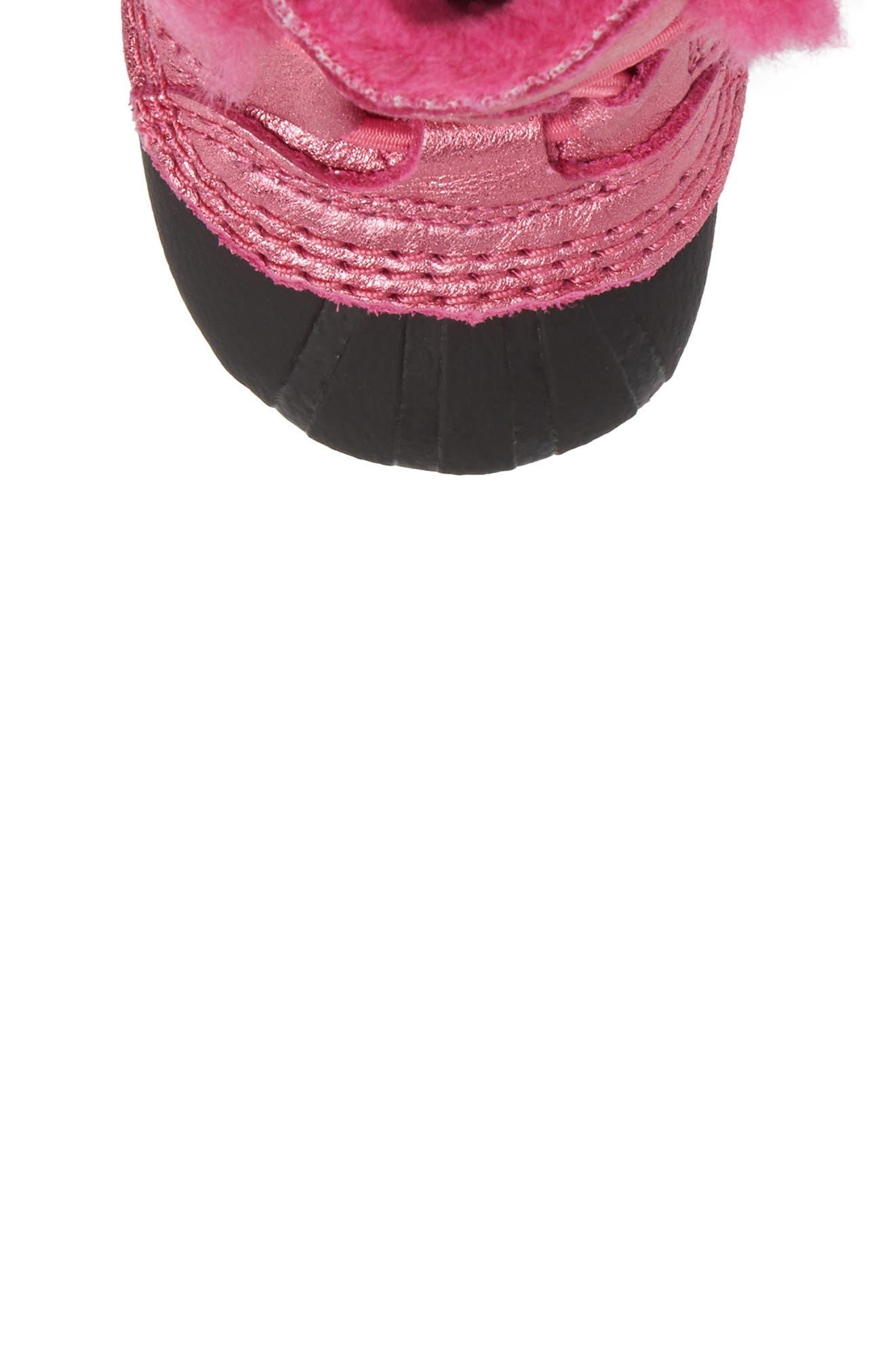 Caribootie Genuine Shearling Crib Shoe,                             Alternate thumbnail 29, color,