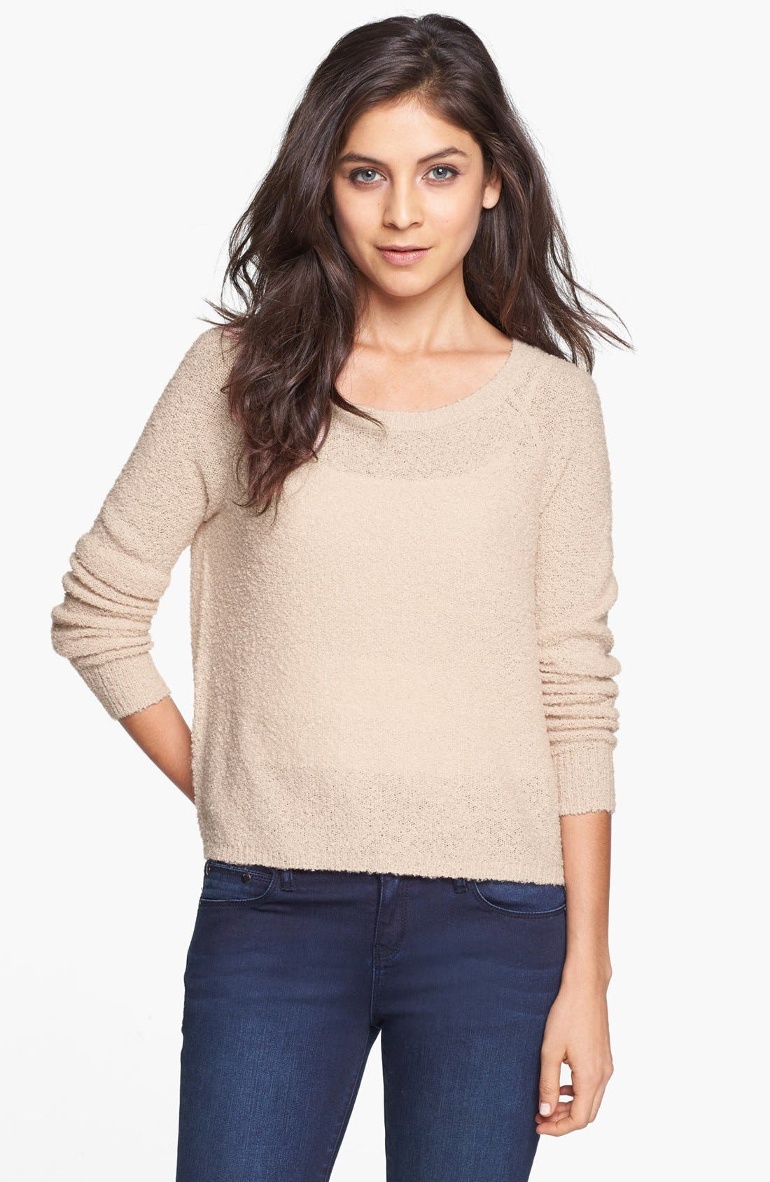 'Grunge' Textured Sweater,                             Main thumbnail 3, color,