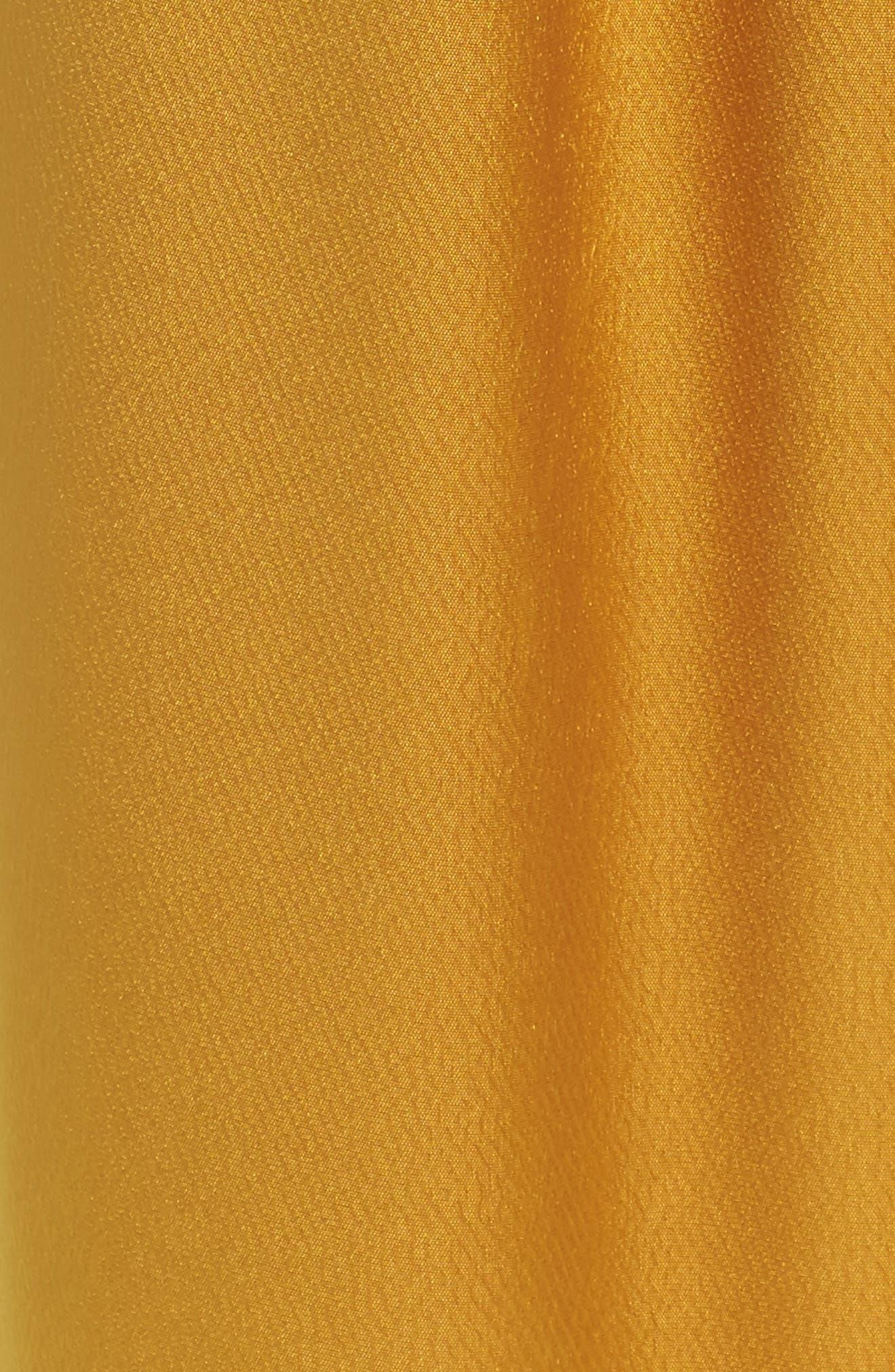 Fancy Pleated Front Satin Pants,                             Alternate thumbnail 5, color,                             700