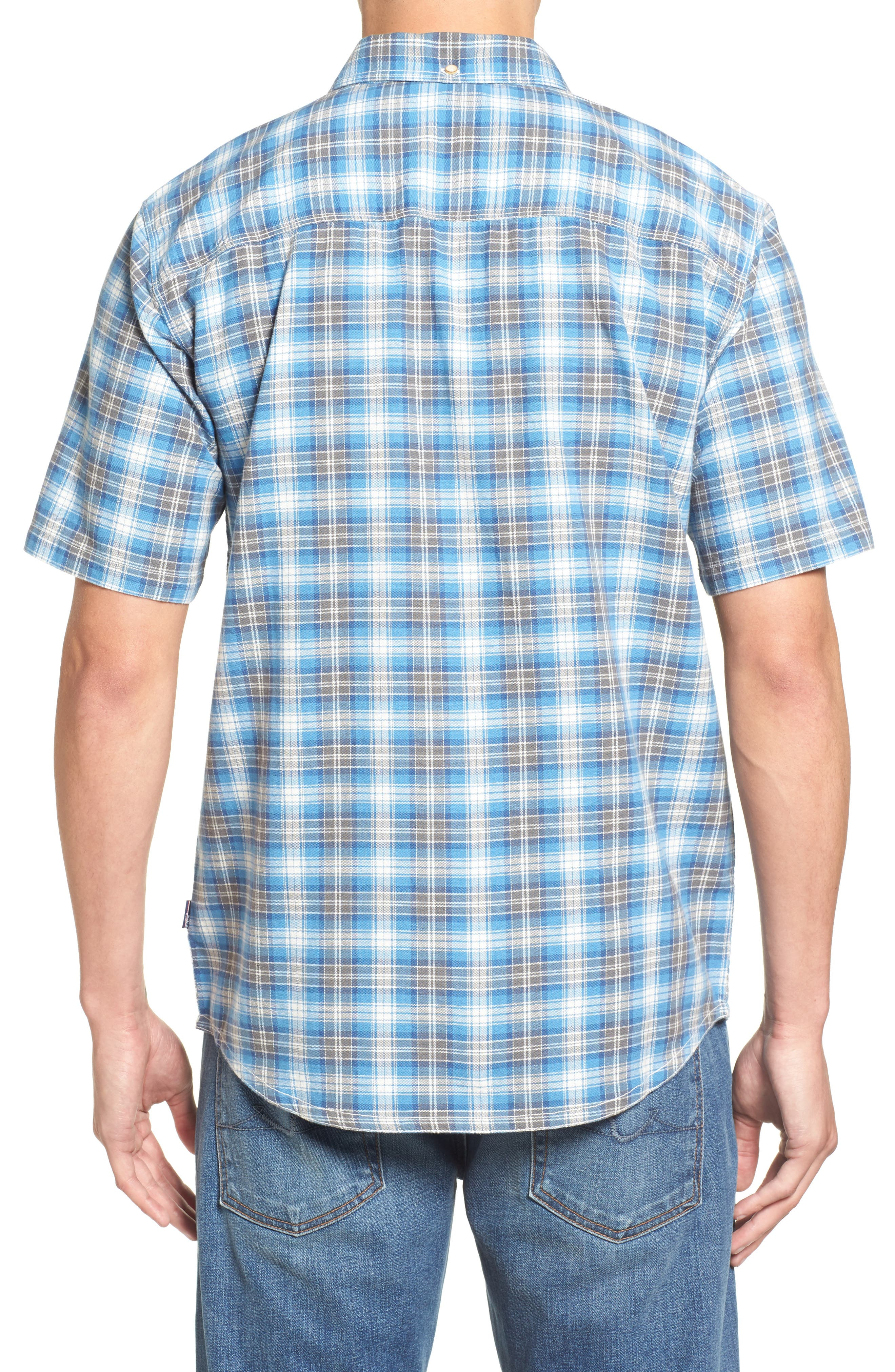 Voyager Plaid Sport Shirt,                             Alternate thumbnail 4, color,