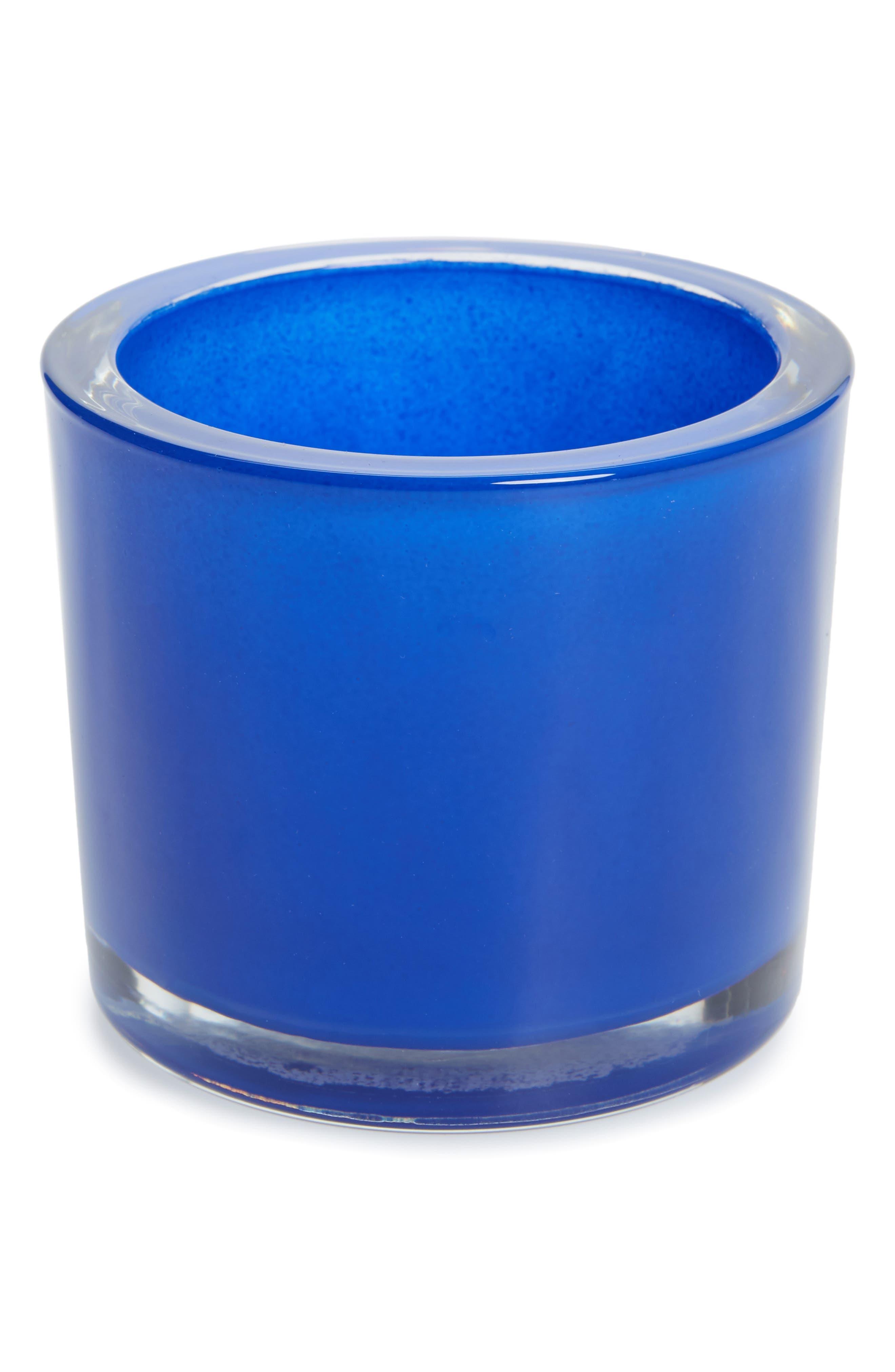 Cobalt Glass Votive Holder,                             Main thumbnail 1, color,                             400