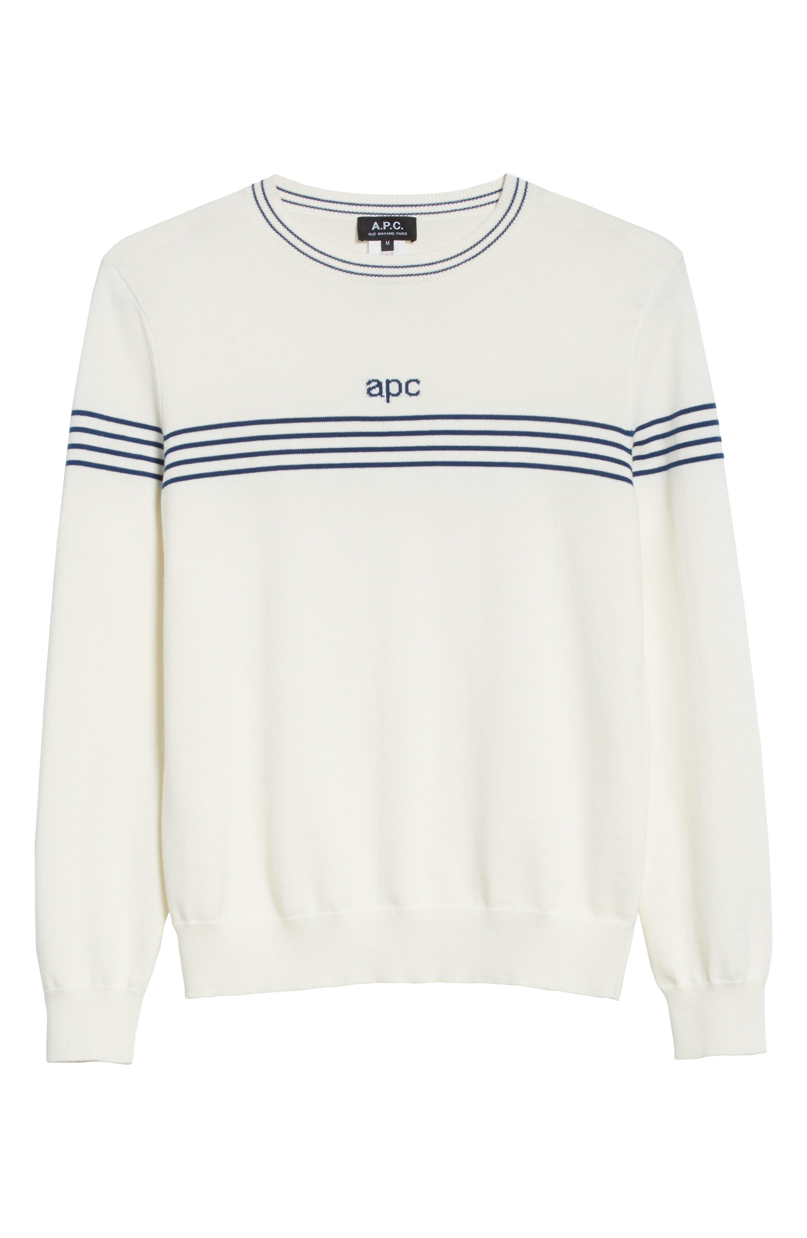 Logo Cotton & Cashmere Crewneck Sweater,                             Alternate thumbnail 6, color,                             111