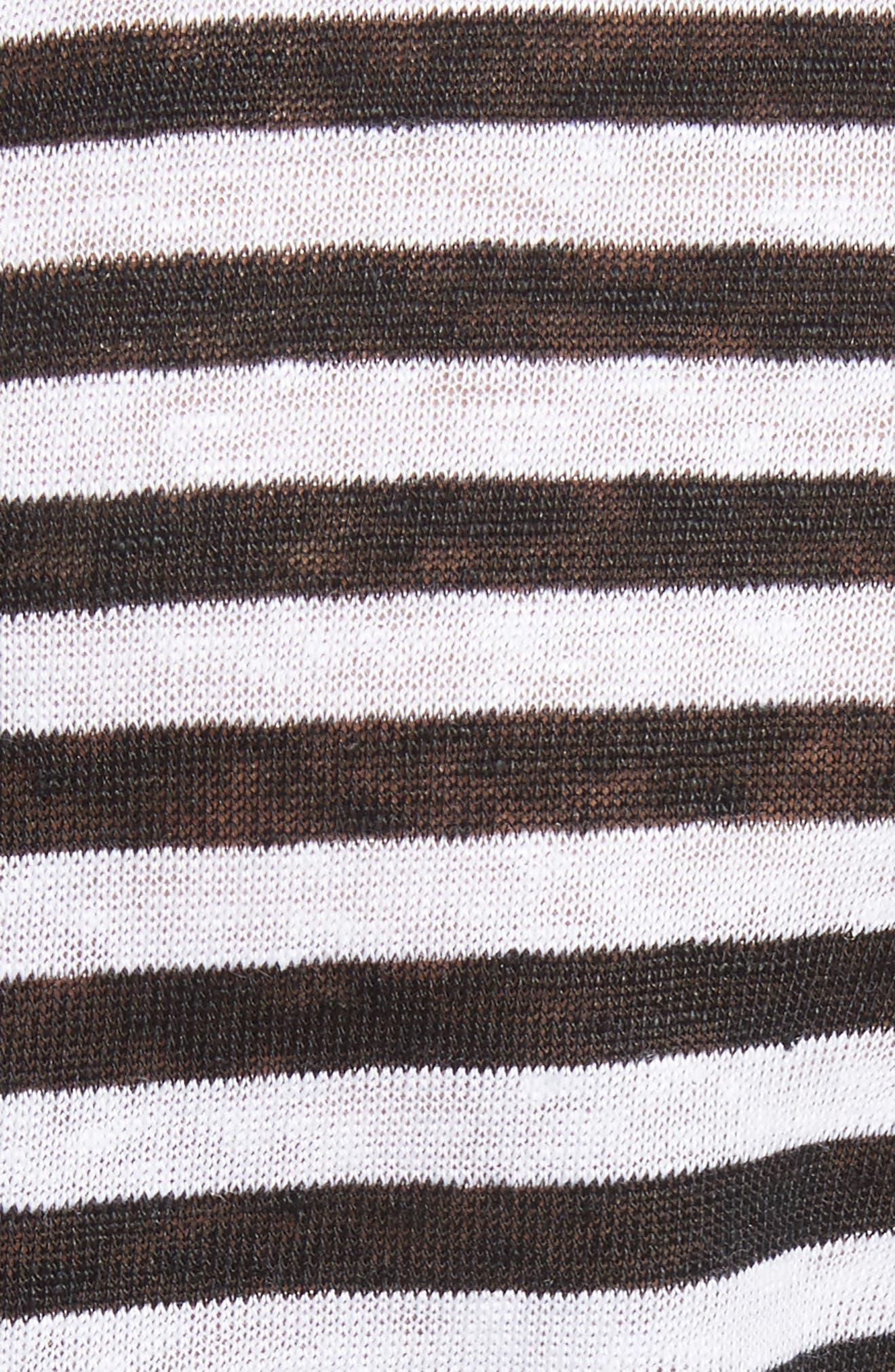 Alber Stripe Linen Tee,                             Alternate thumbnail 5, color,                             002