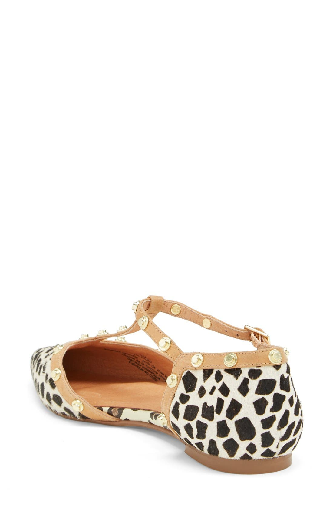 'Olson' Pointy Toe Studded T-Strap Flat,                             Alternate thumbnail 59, color,