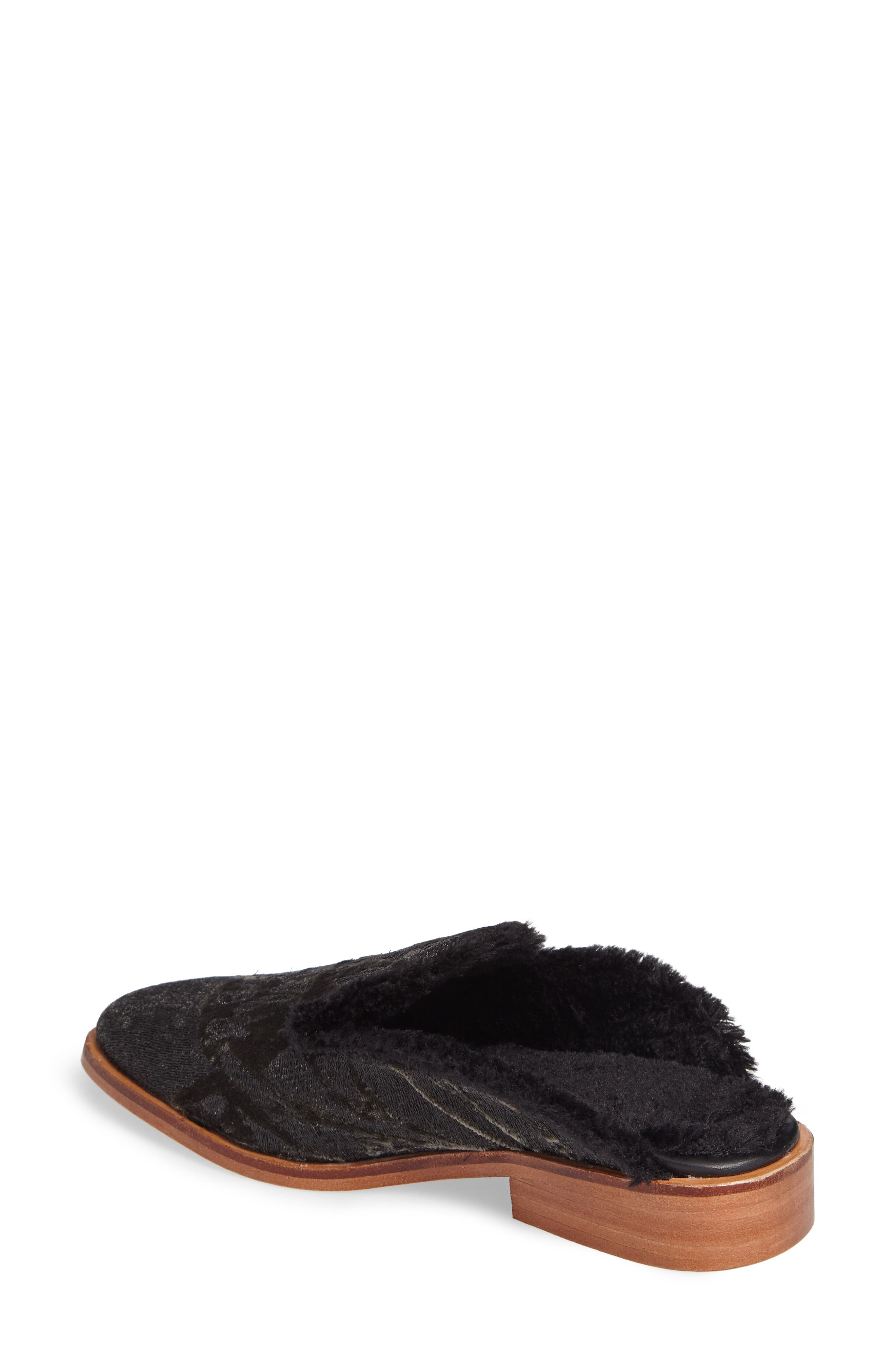 Butterfly Faux Fur Lined Mule,                             Alternate thumbnail 2, color,                             020