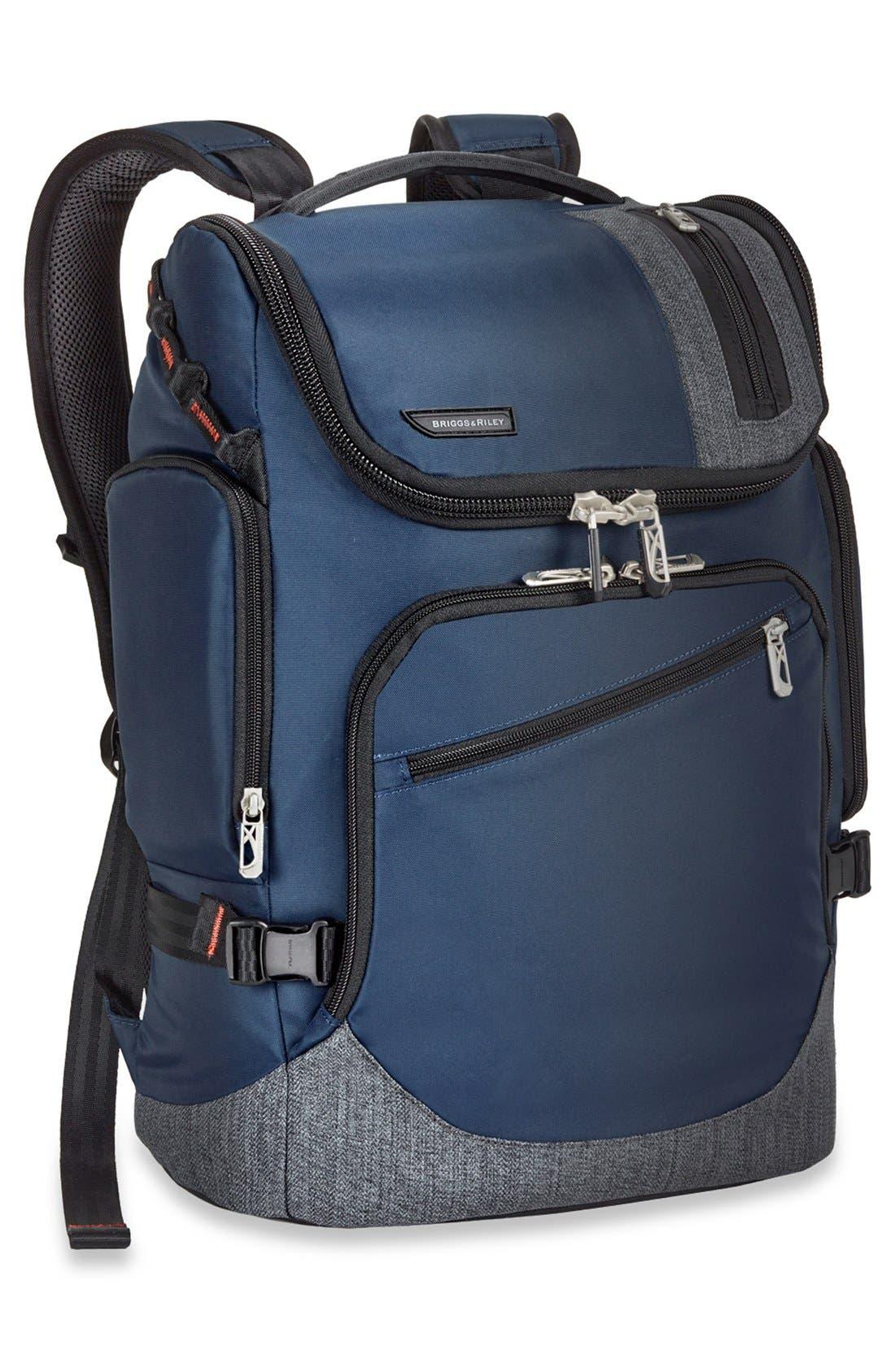 BRX - Excursion Backpack,                             Alternate thumbnail 3, color,                             BLUE