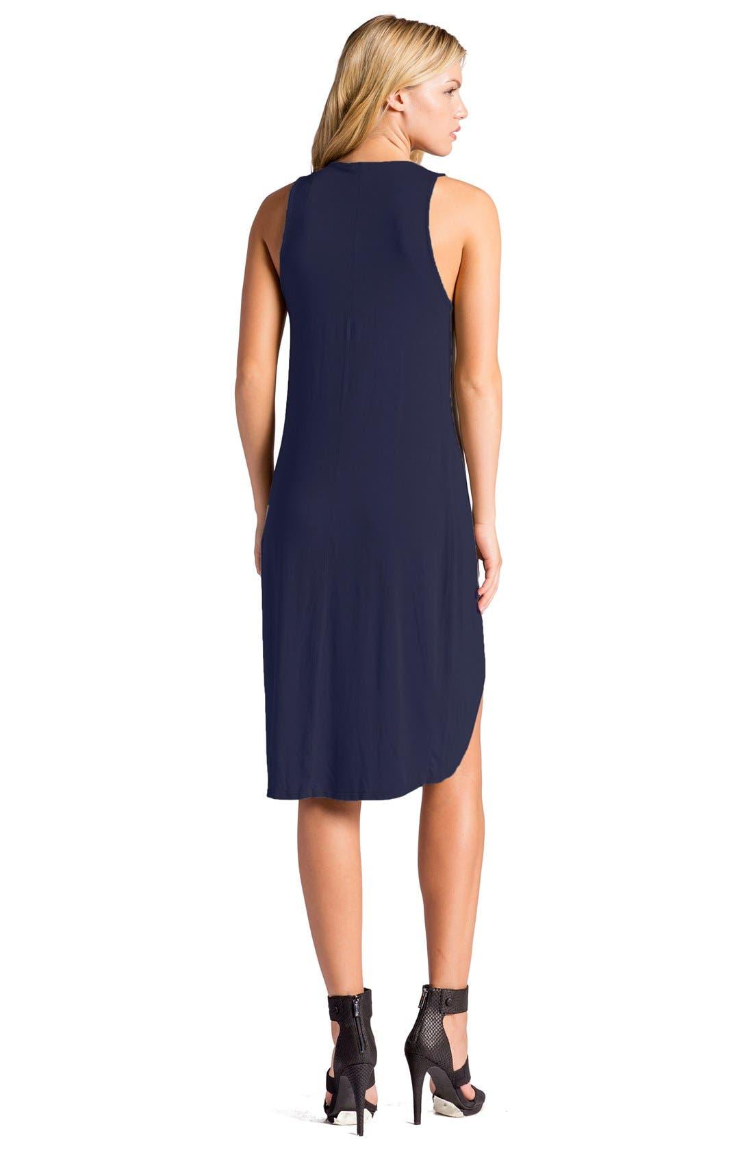 Elba Asymmetrical Hem Sleeveless Jersey Dress,                             Alternate thumbnail 9, color,