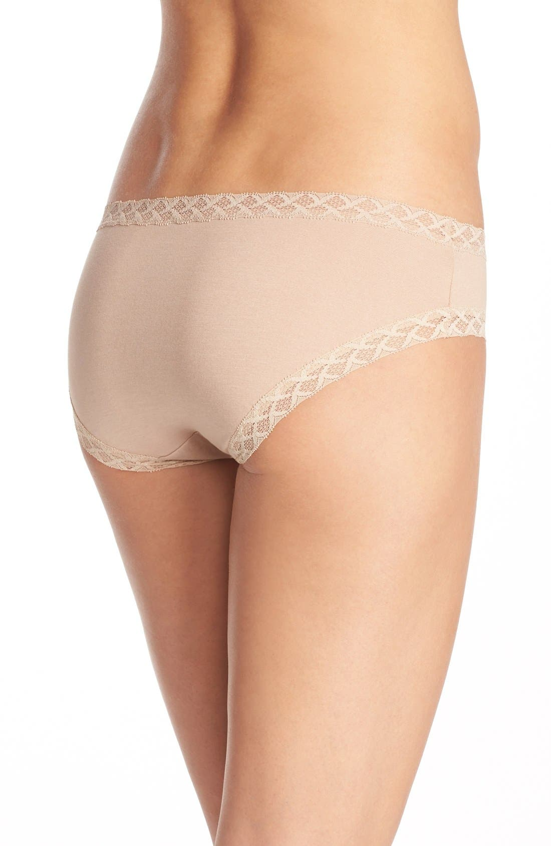 Bliss Cotton Girl Briefs,                             Alternate thumbnail 5, color,                             CAFE