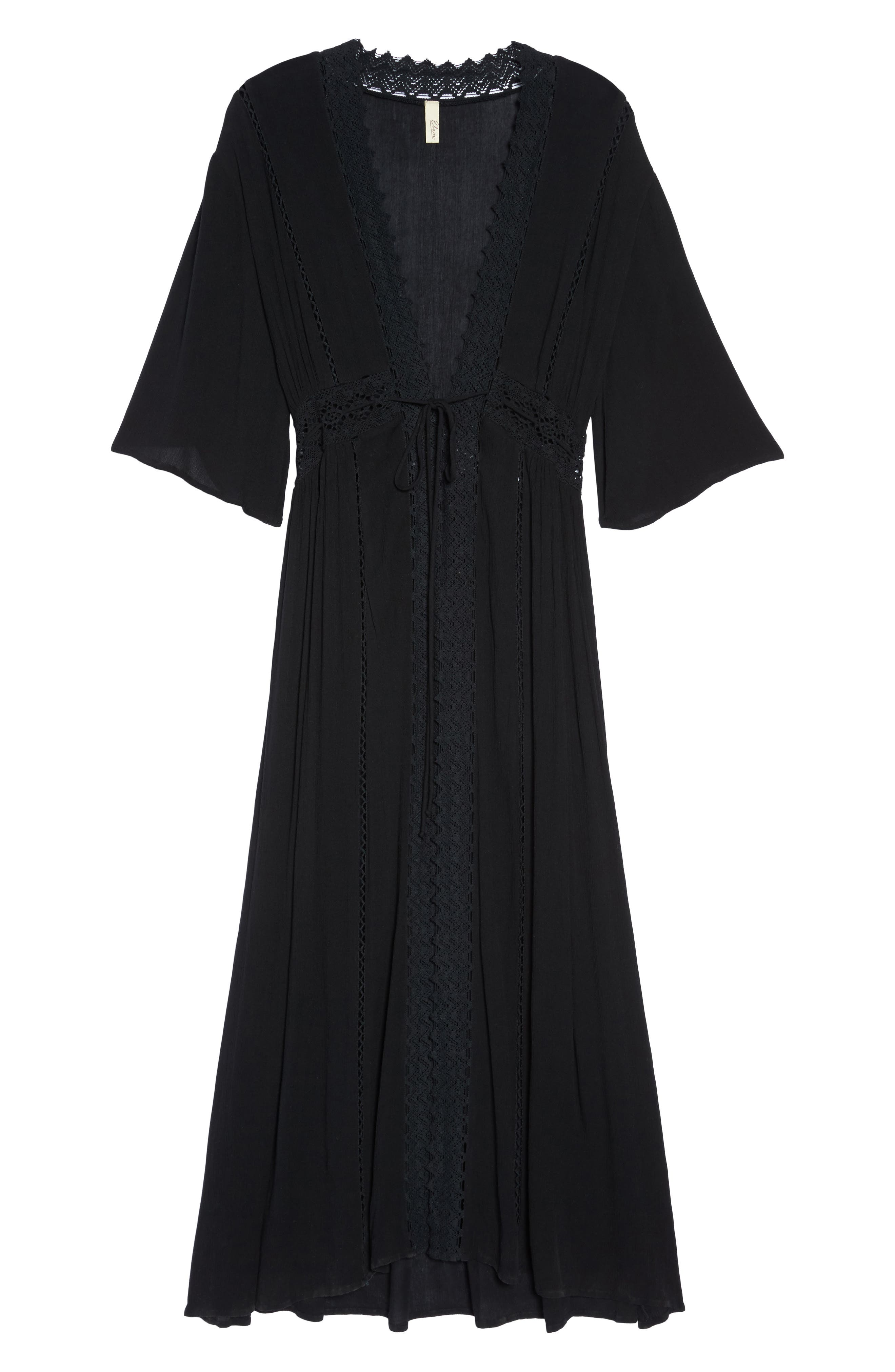Cover-Up Duster Cardigan,                             Alternate thumbnail 6, color,                             001