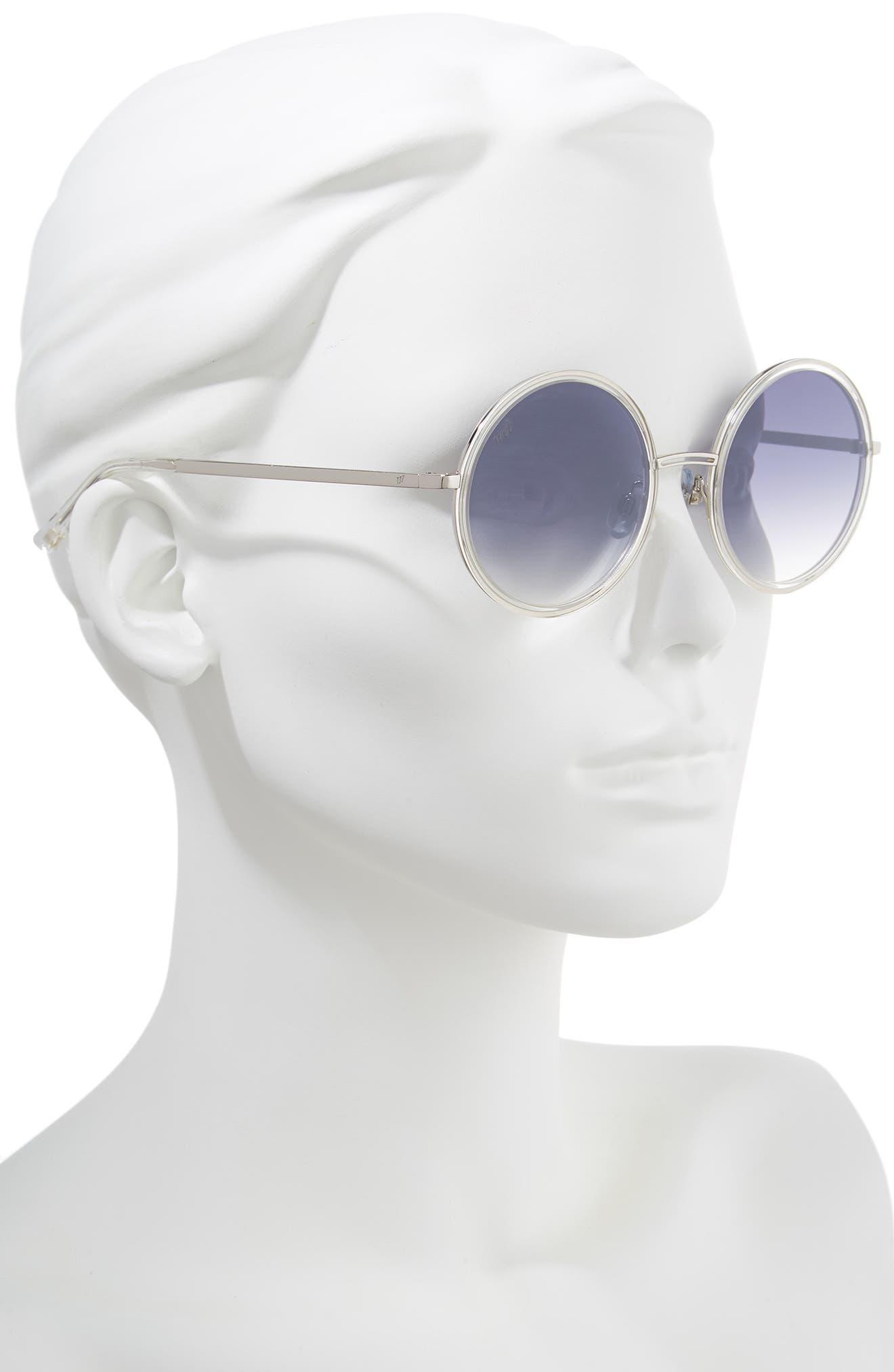52mm Sunglasses,                             Alternate thumbnail 2, color,                             CRYSTAL/ SMOKE