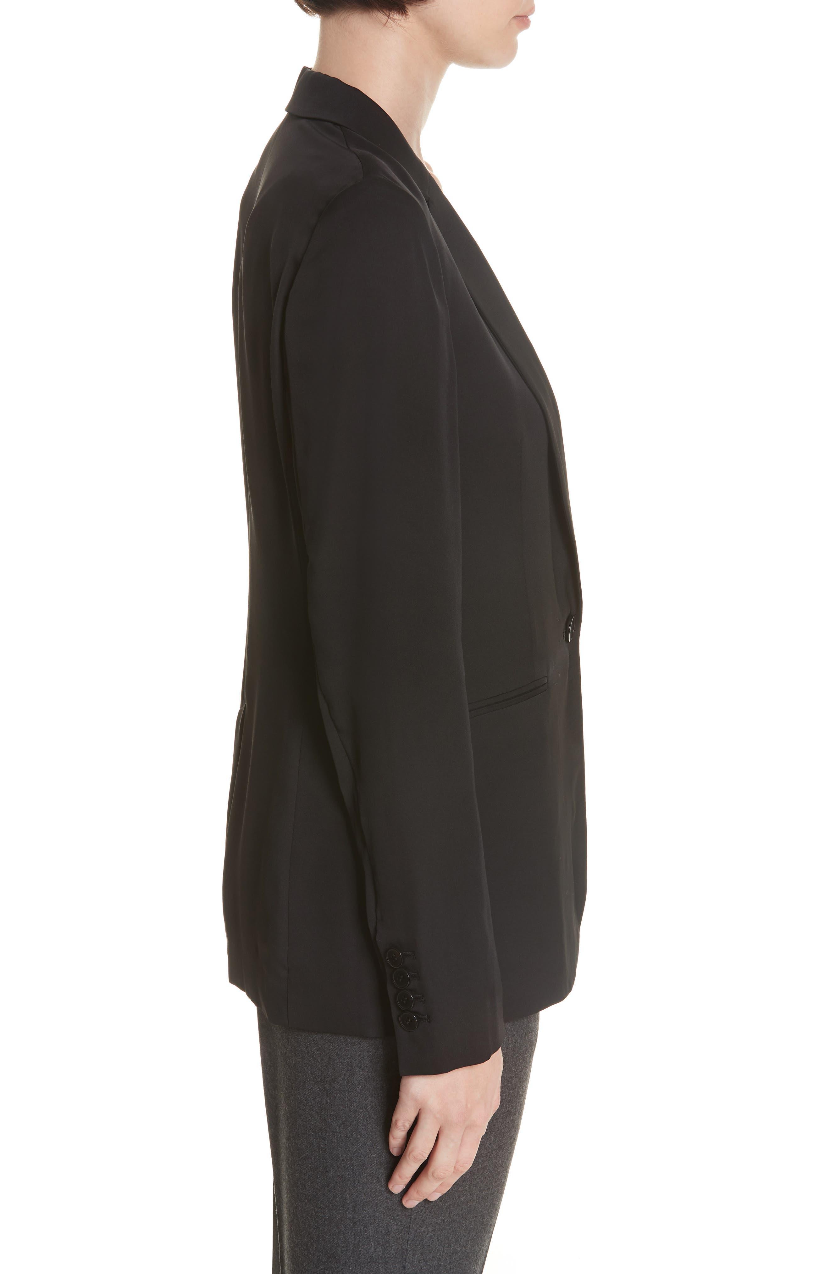 Grinson Silk Suit Jacket,                             Alternate thumbnail 3, color,                             001