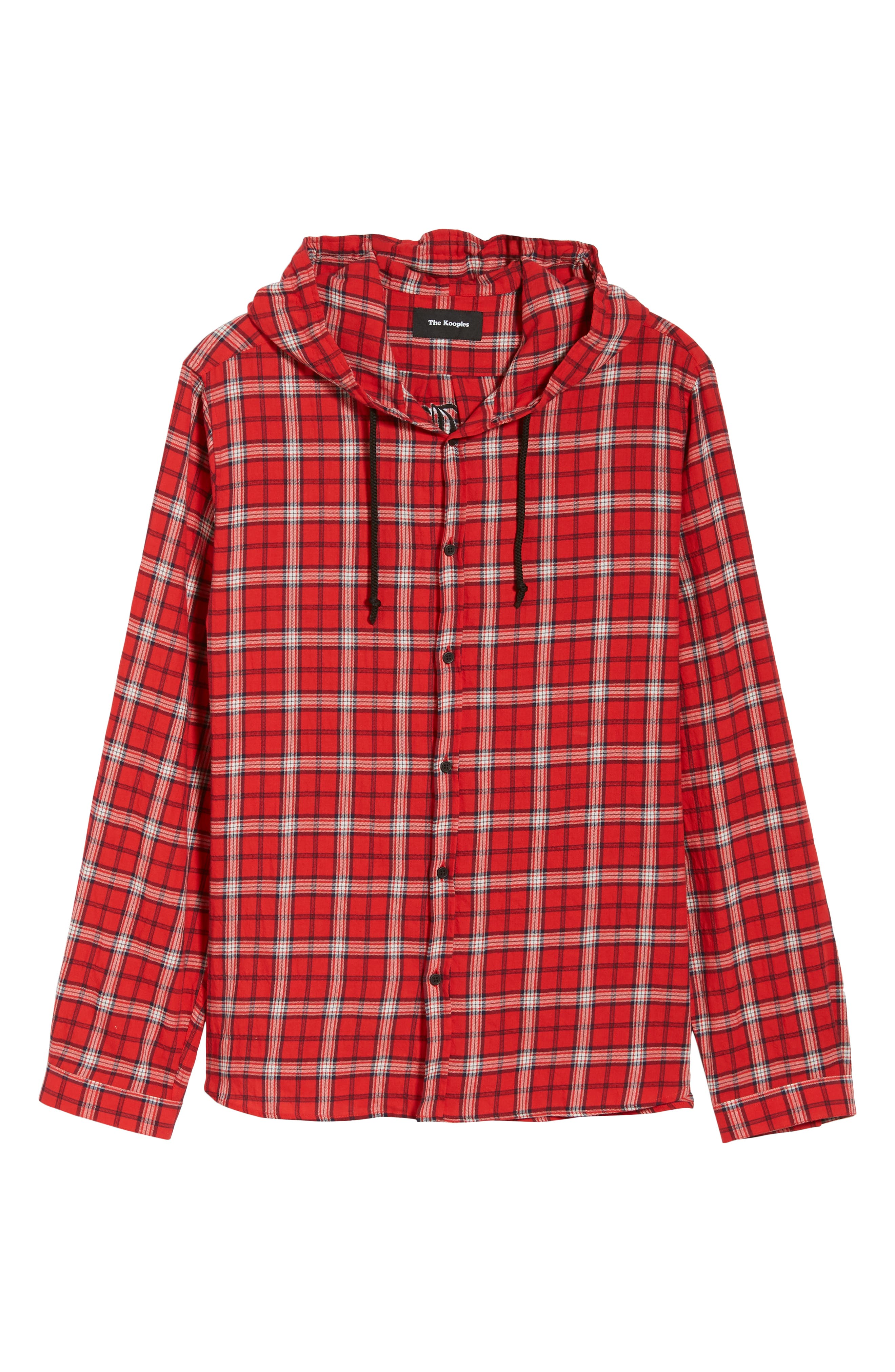 Checkered Classic Fit Hoodie Shirt Jacket,                             Alternate thumbnail 6, color,                             600