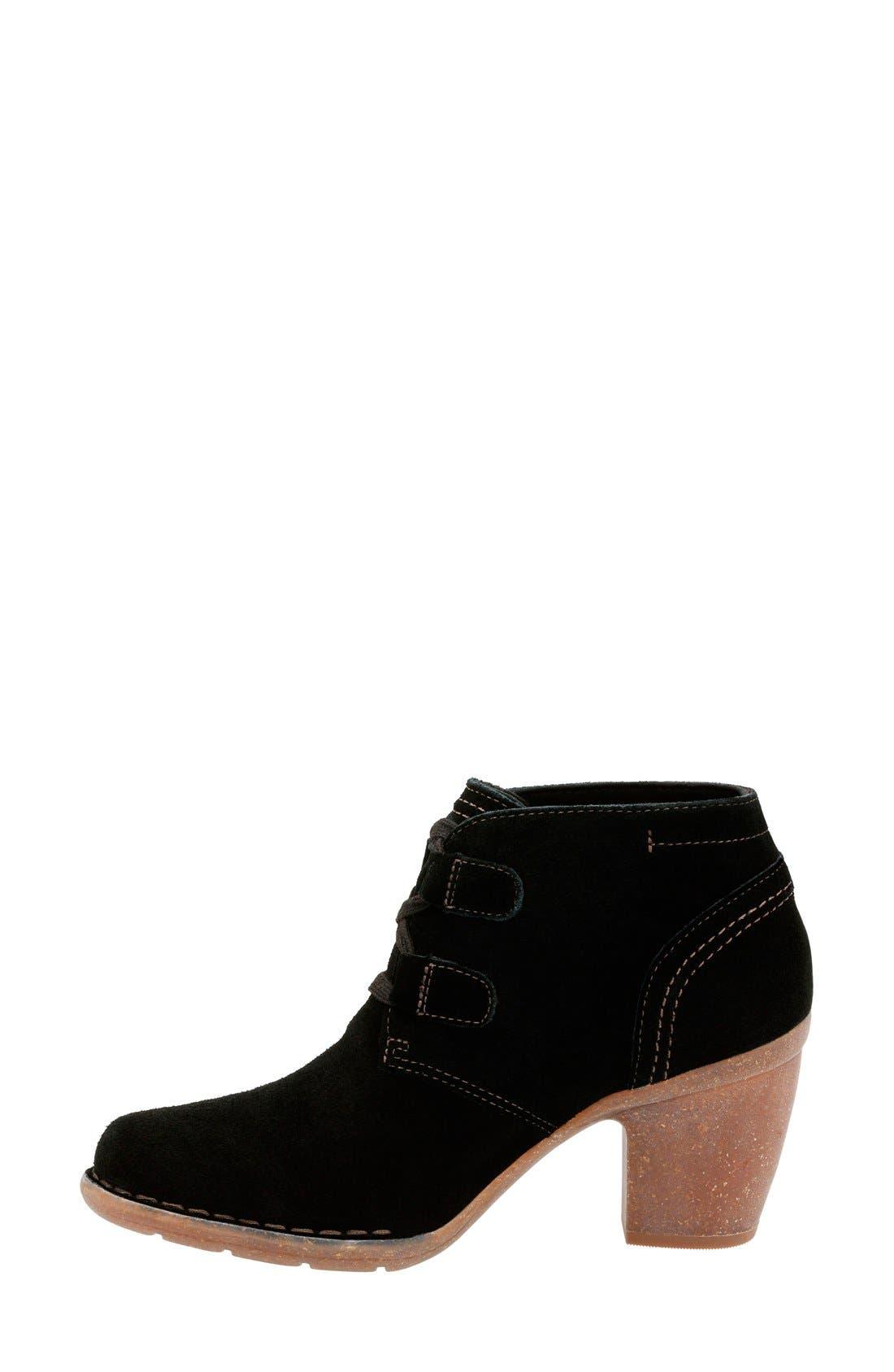'Carleta Lyon' Ankle Boot,                             Alternate thumbnail 2, color,                             BLACK SUEDE