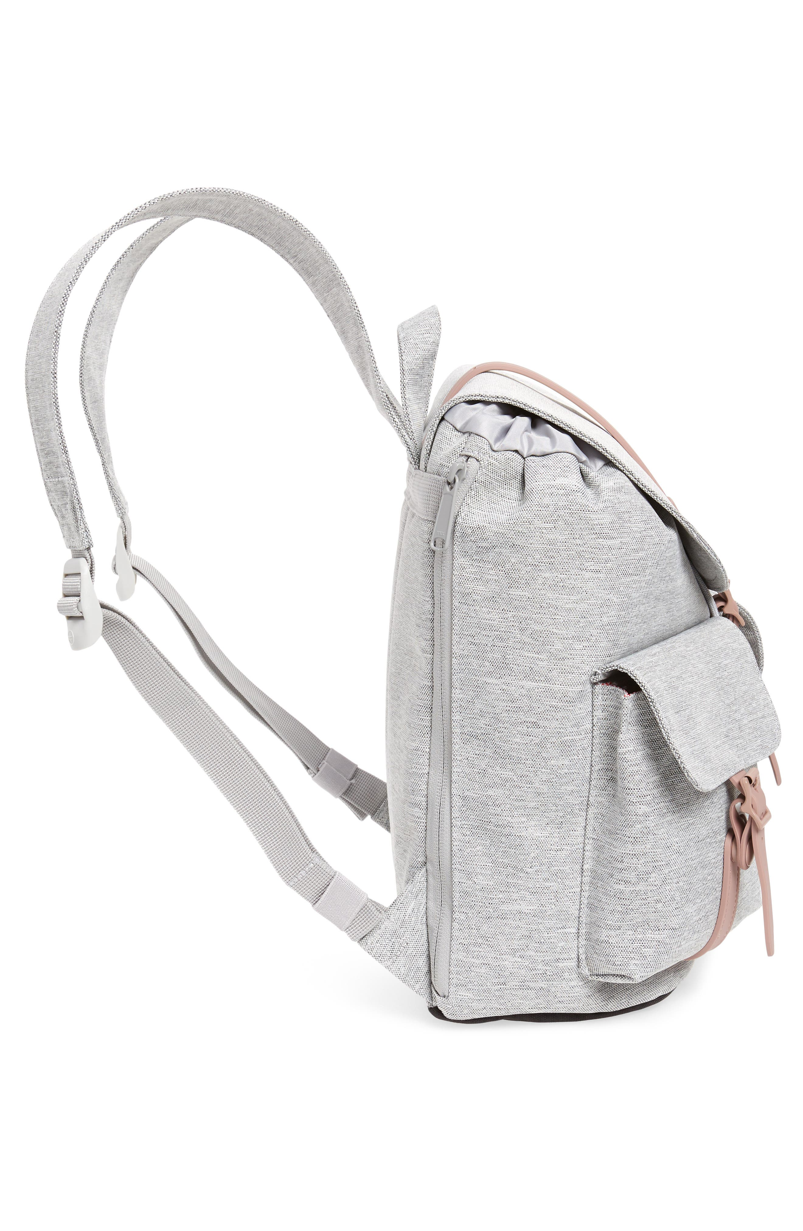X-Small Dawson Backpack,                             Alternate thumbnail 5, color,                             LIGHT GREY/ ASH ROSE/ BLACK