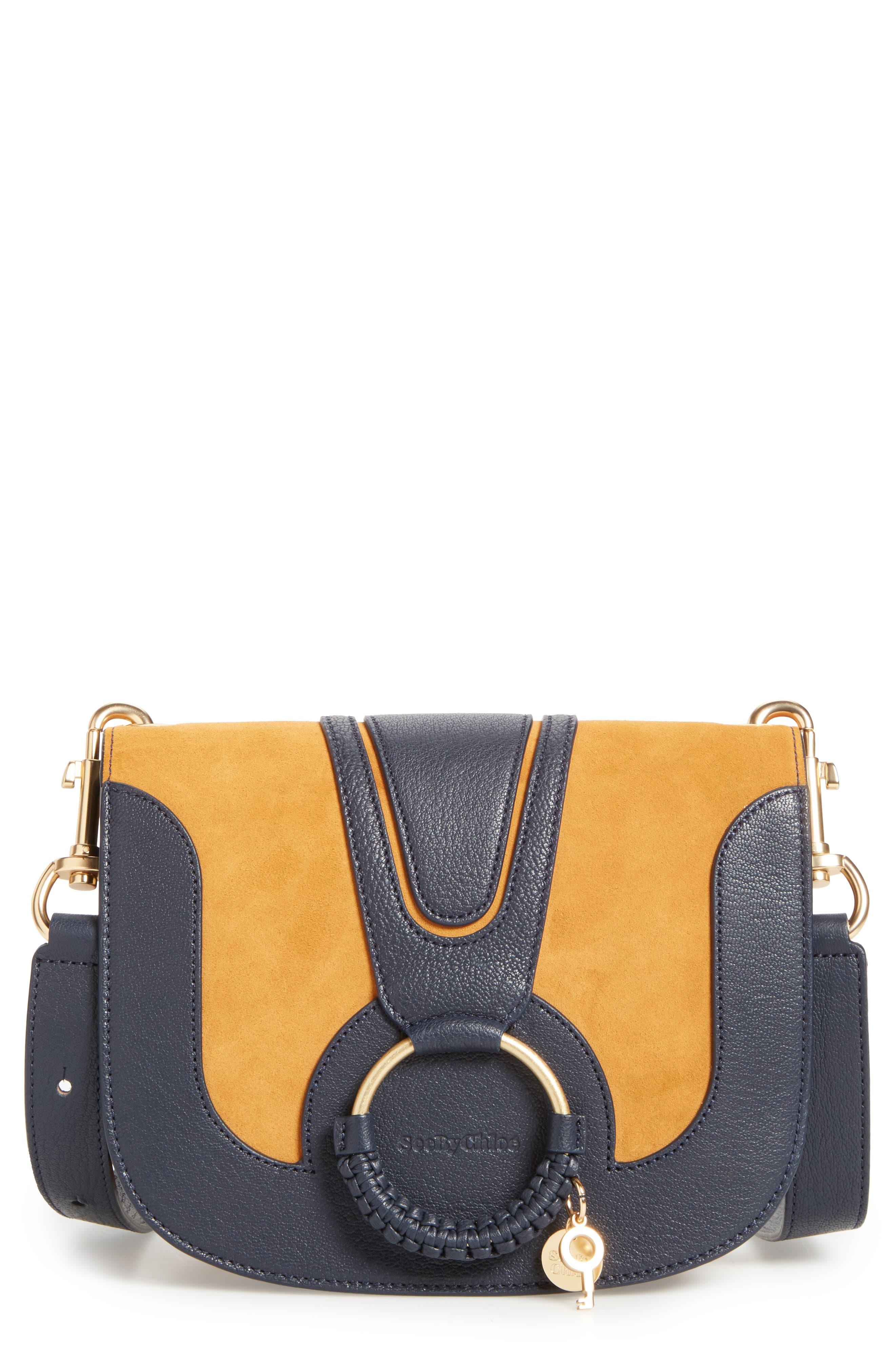 Hana Small Leather Crossbody Bag,                             Main thumbnail 5, color,