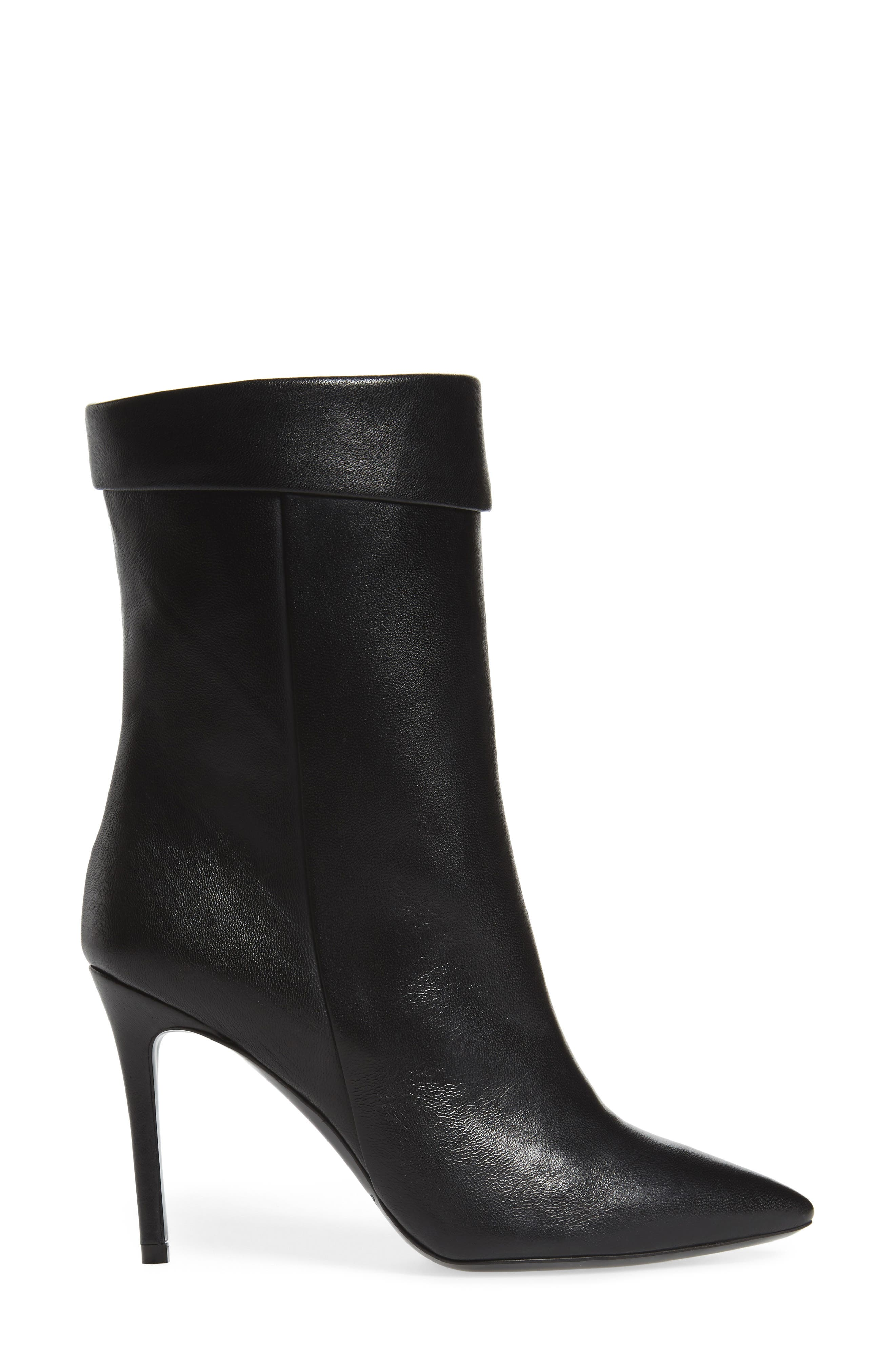Sylvie Cuffed Pointy Toe Bootie,                             Alternate thumbnail 3, color,                             001