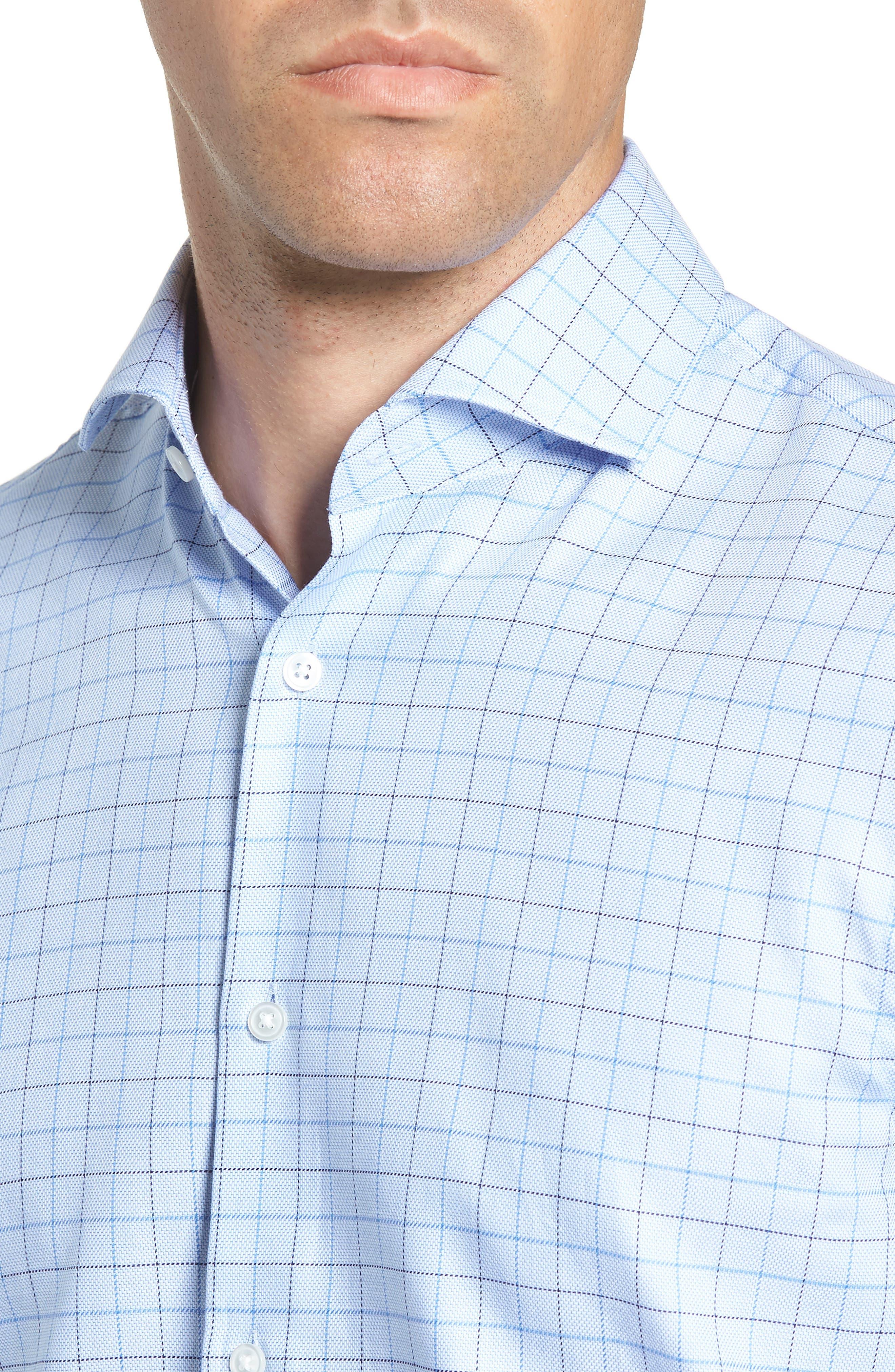 Mark Sharp Fit Check Dress Shirt,                             Alternate thumbnail 2, color,                             LIGHT BLUE