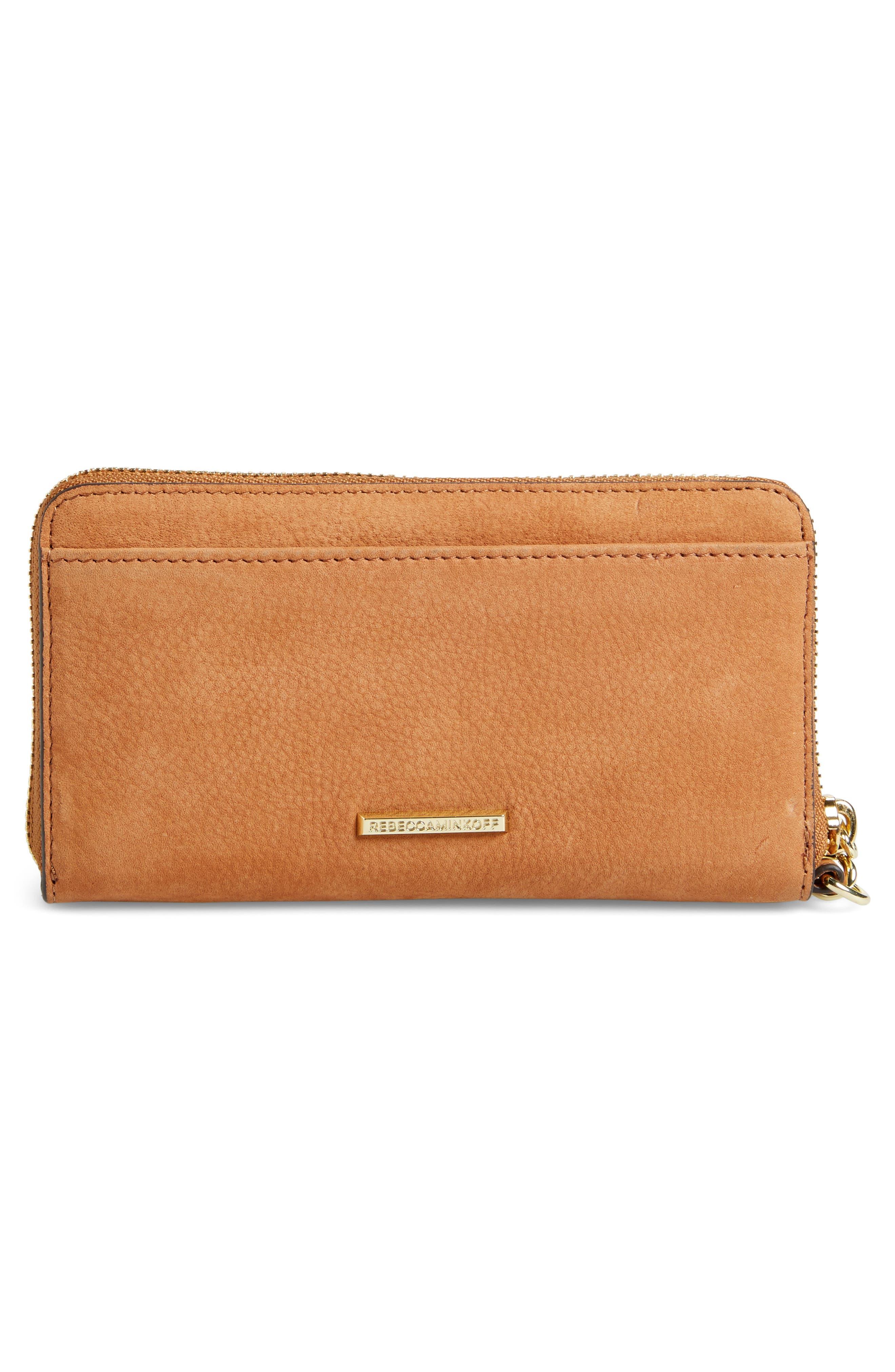 Vanity Nubuck Leather Phone Wallet,                             Alternate thumbnail 3, color,                             230