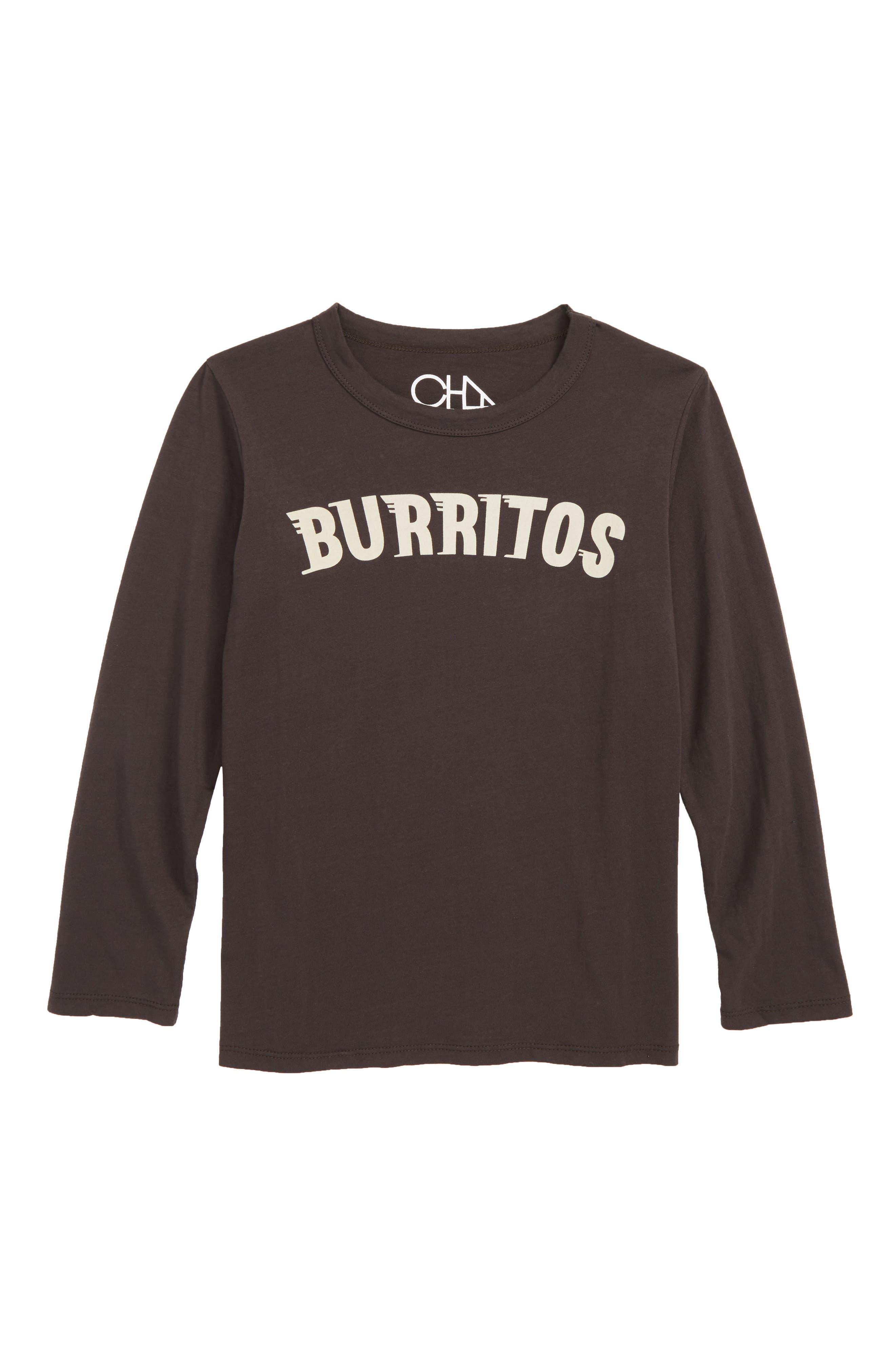 Burritos Graphic T-Shirt, Main, color, VINTAGE BLACK