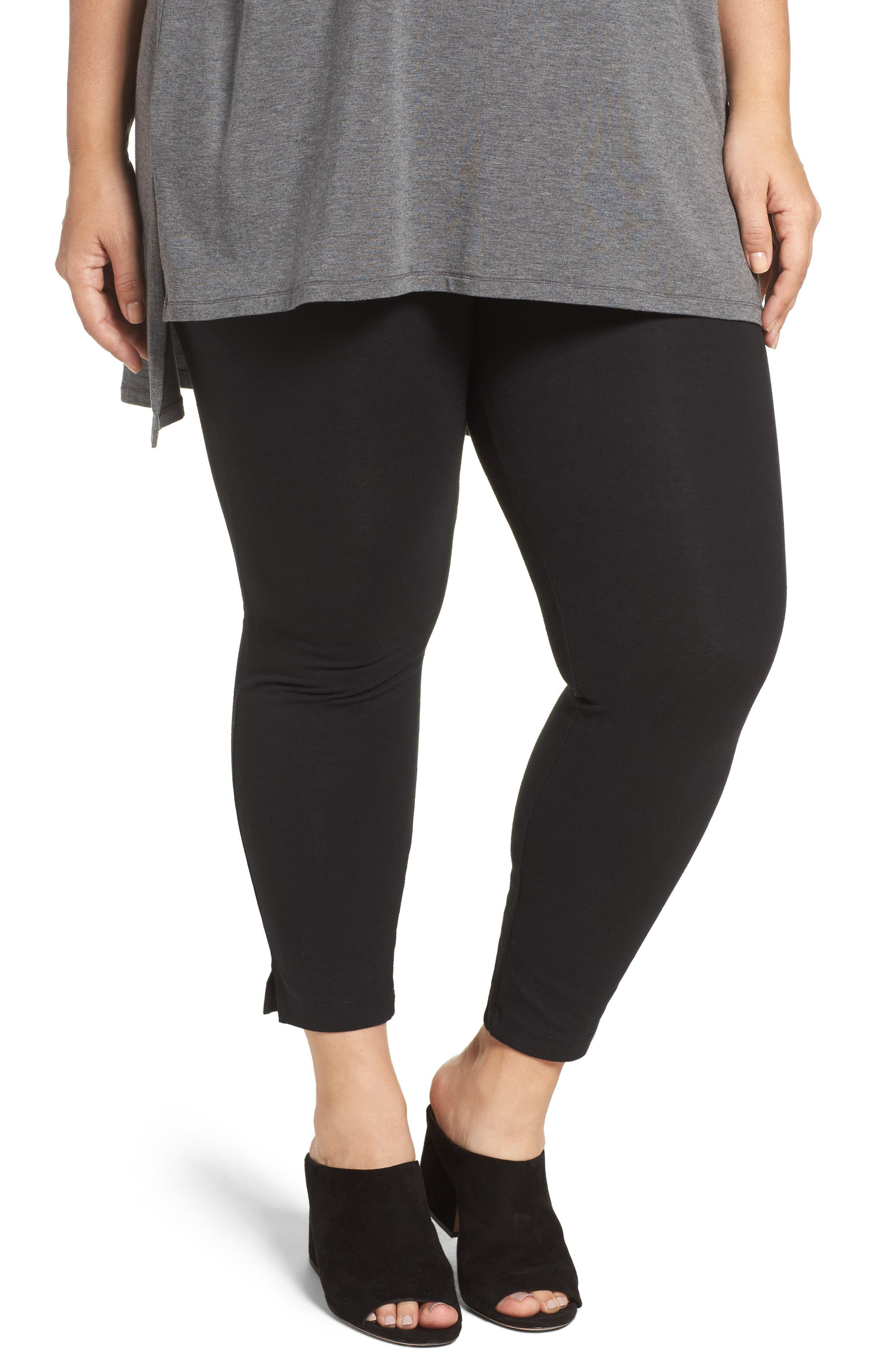 The Skinny High Rise Leggings,                         Main,                         color, BLACK