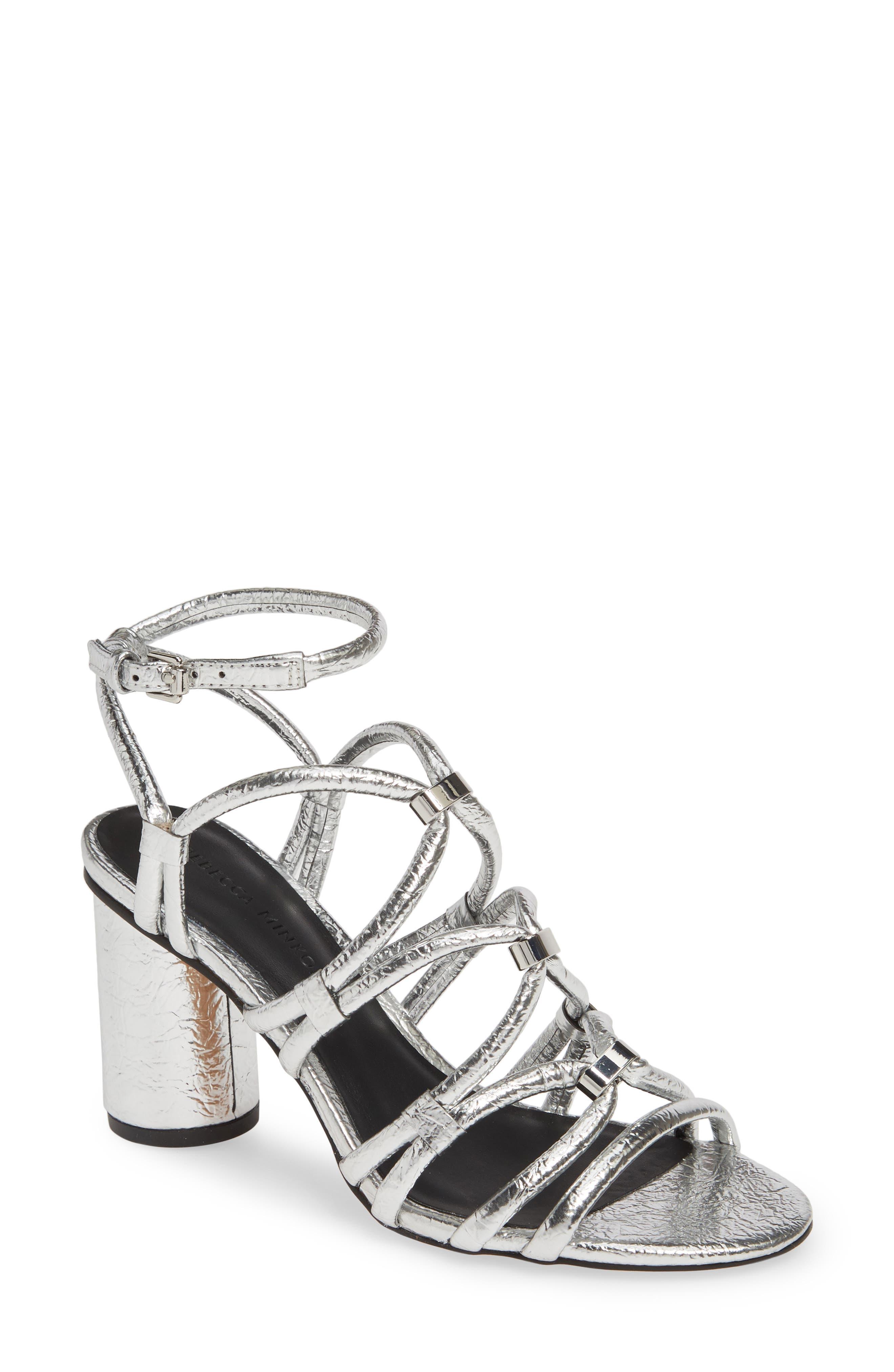Rebecca Minkoff Apolline Strappy Sandal- Metallic