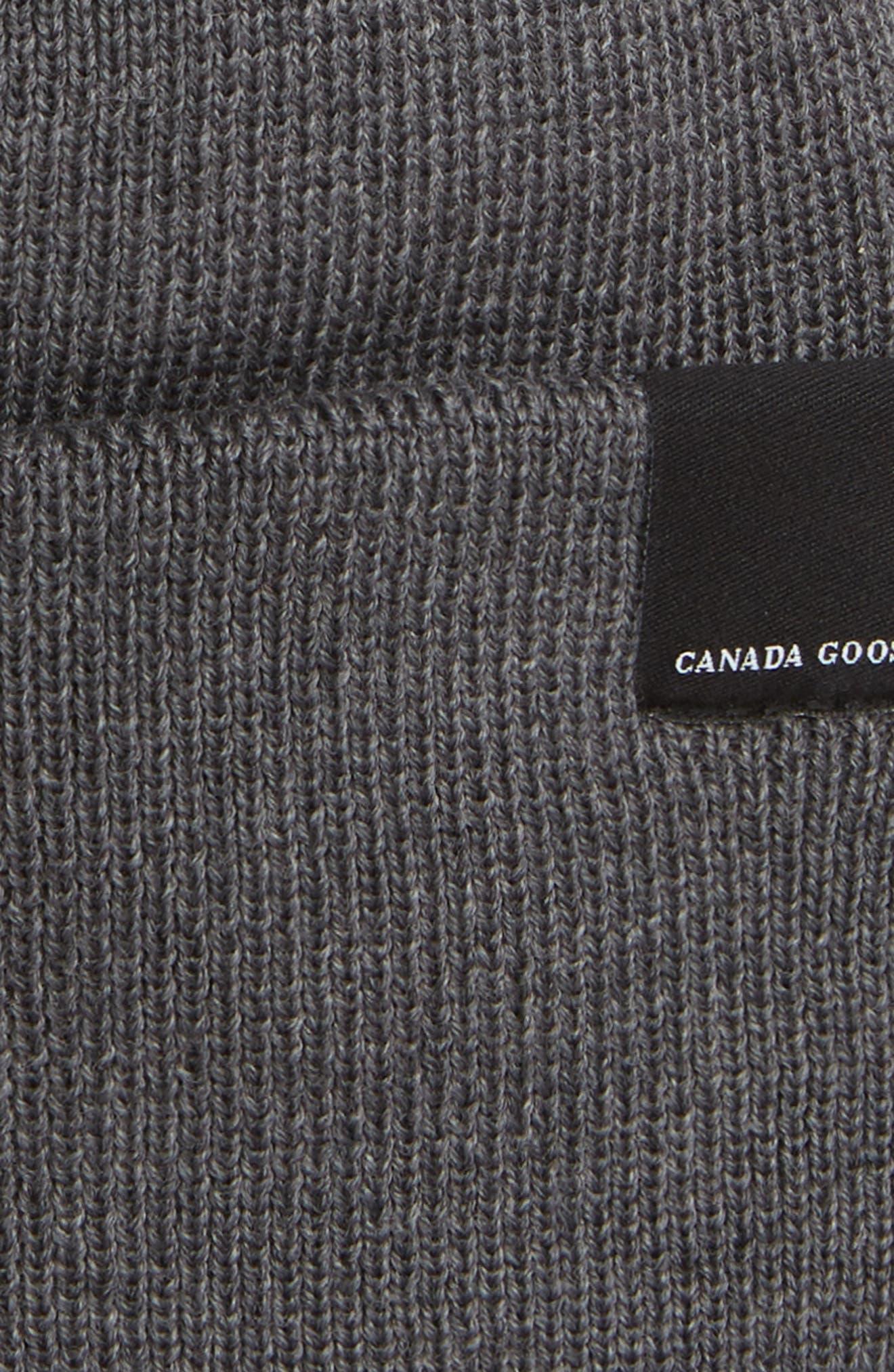 Classic Merino Wool Beanie,                             Alternate thumbnail 2, color,                             IRON GREY